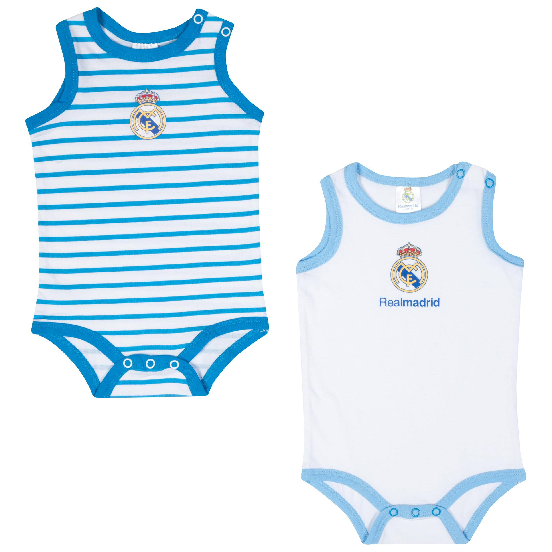 Real Madrid 2 PK Bodysuits - Blue/White - Baby Unisex