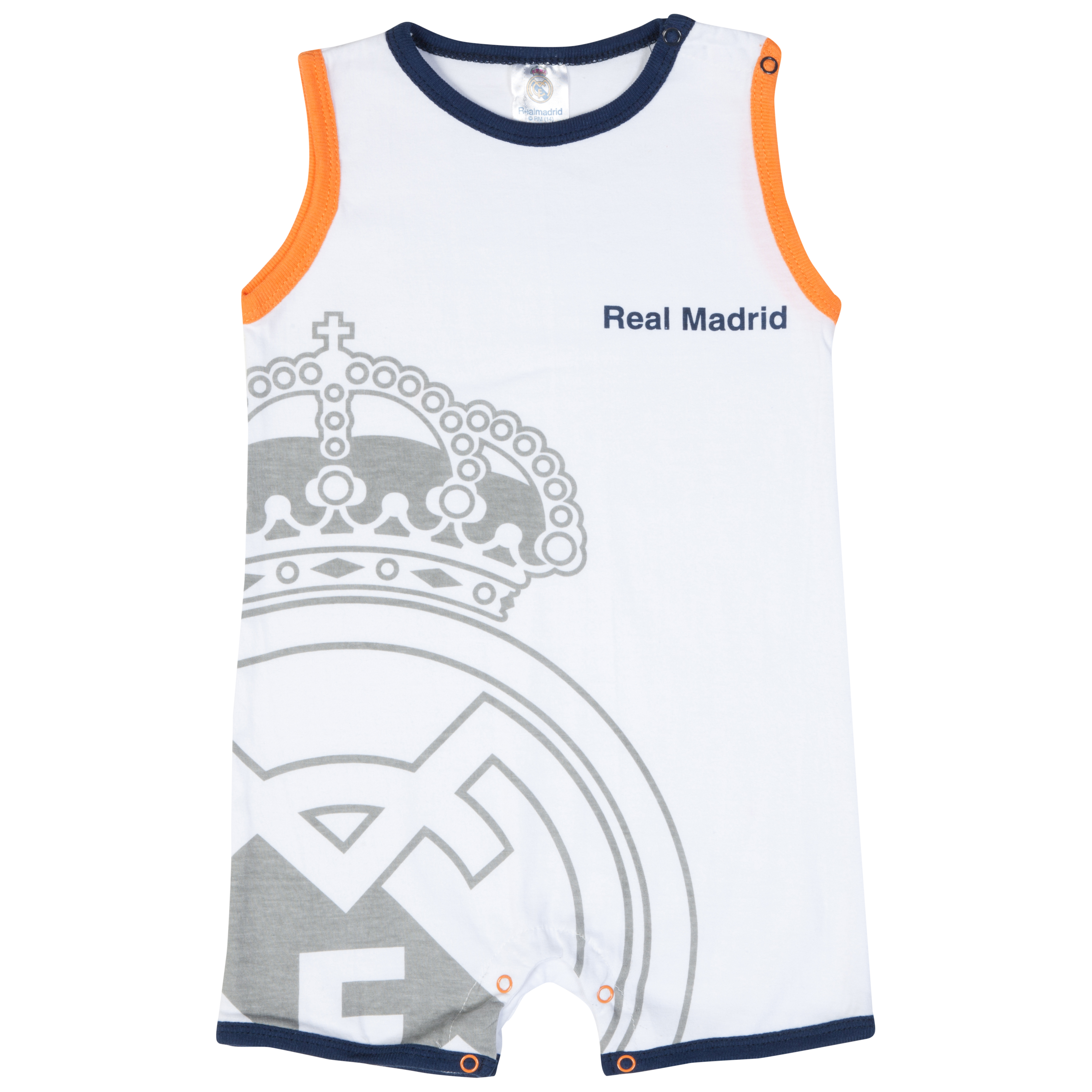 Real Madrid Crest Bodysuit - White - Baby Unisex