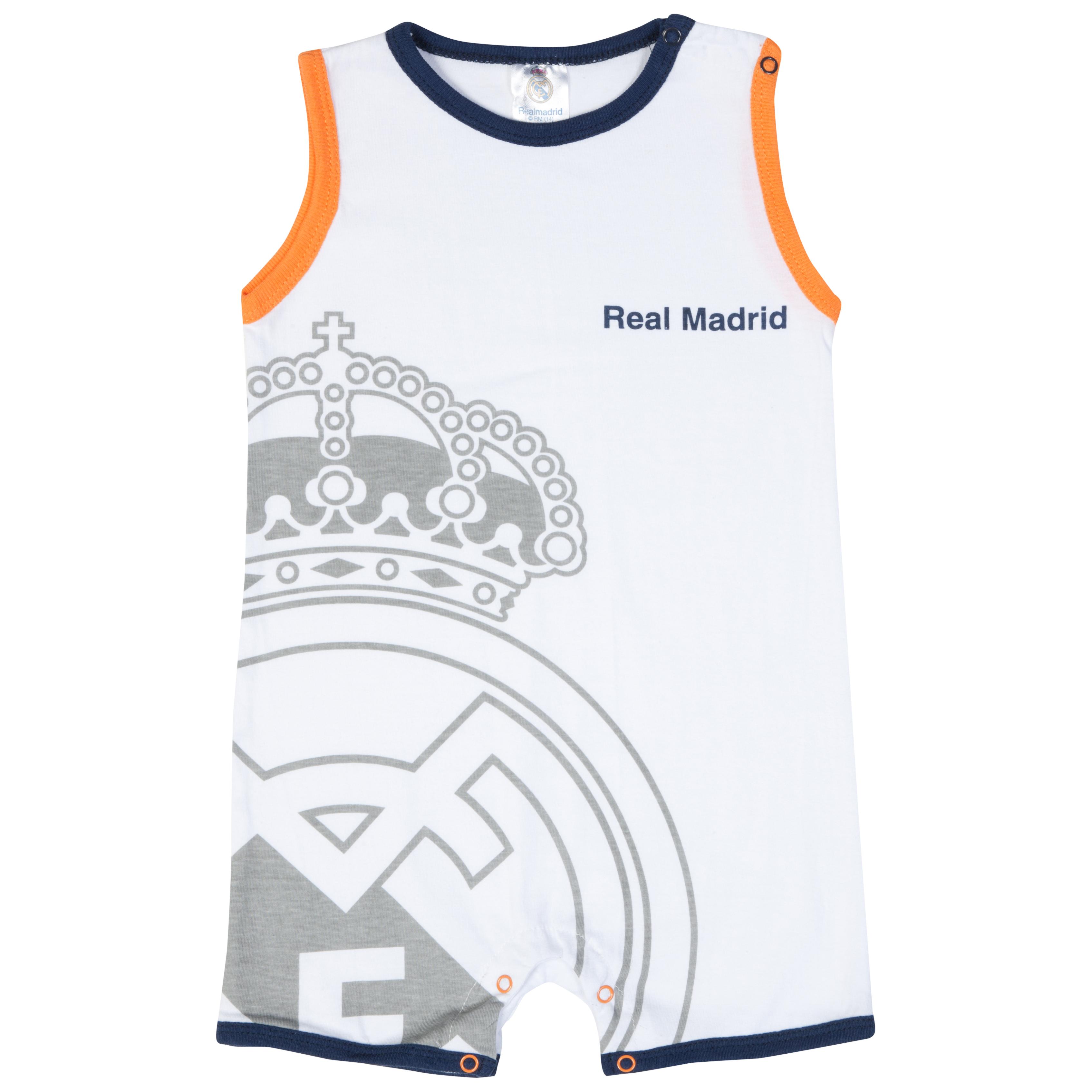 Real Madrid Crest Bodysuit - White - Baby Unisex