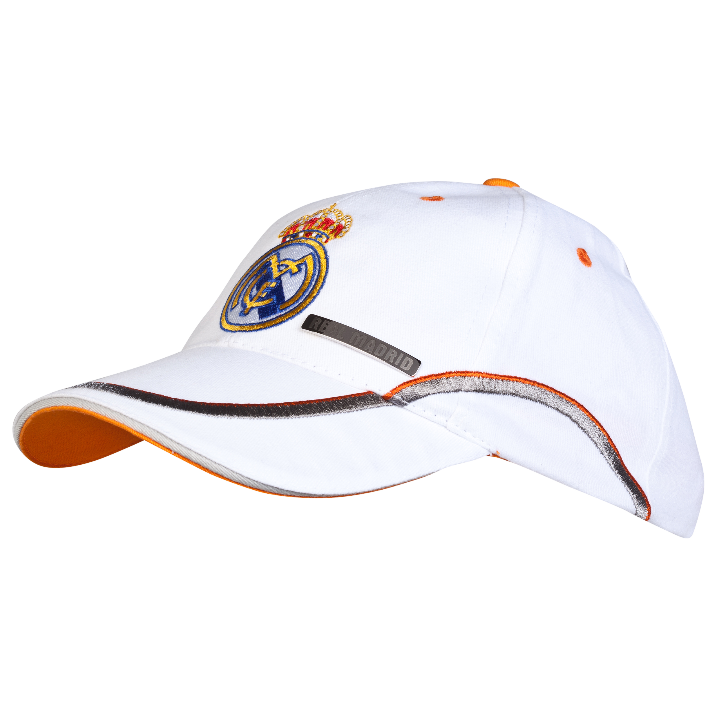 Real Madrid Crest Cap - White - Adult