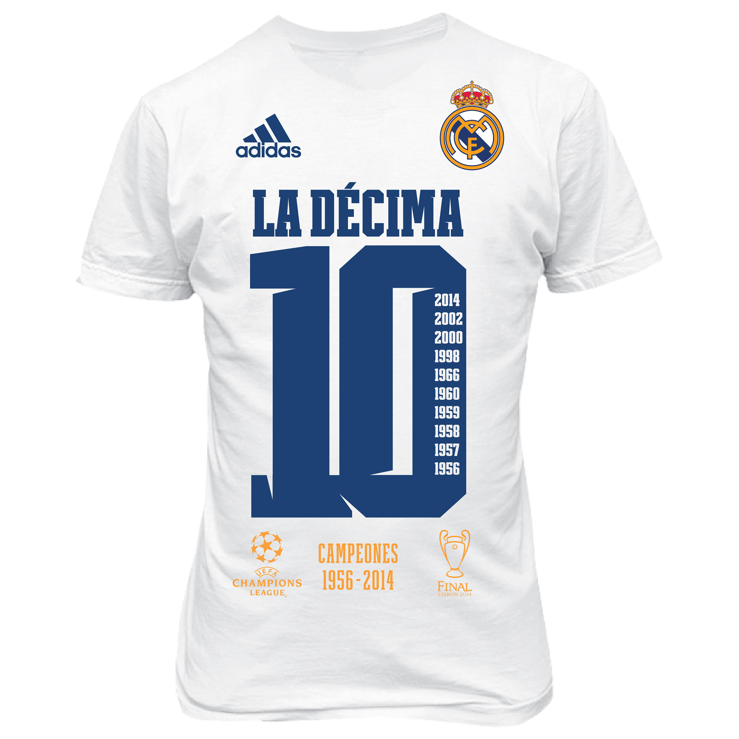 Real Madrid UCL Winners 2014 T-Shirt - Kids White
