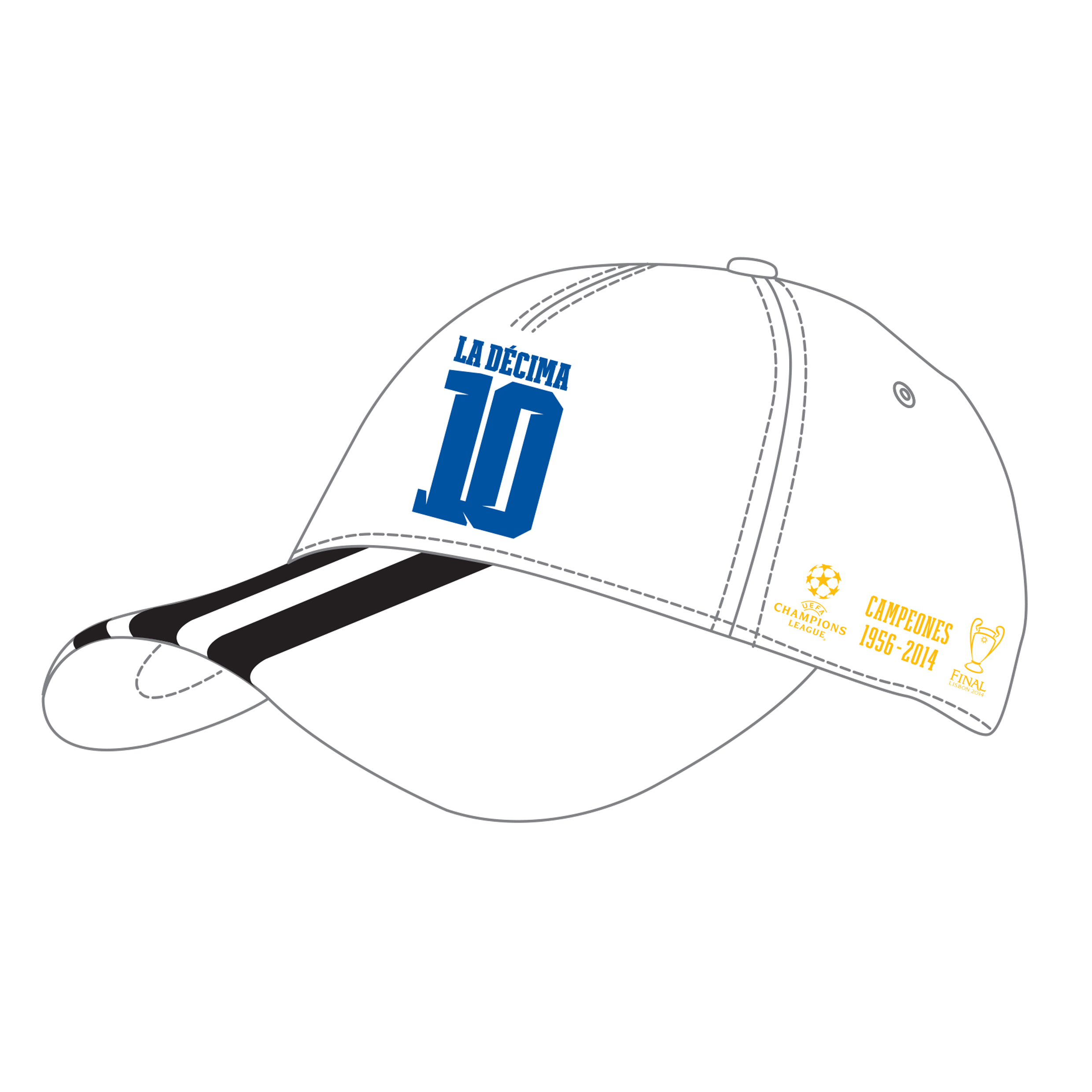 Real Madrid UCL Winners 2014 Cap White