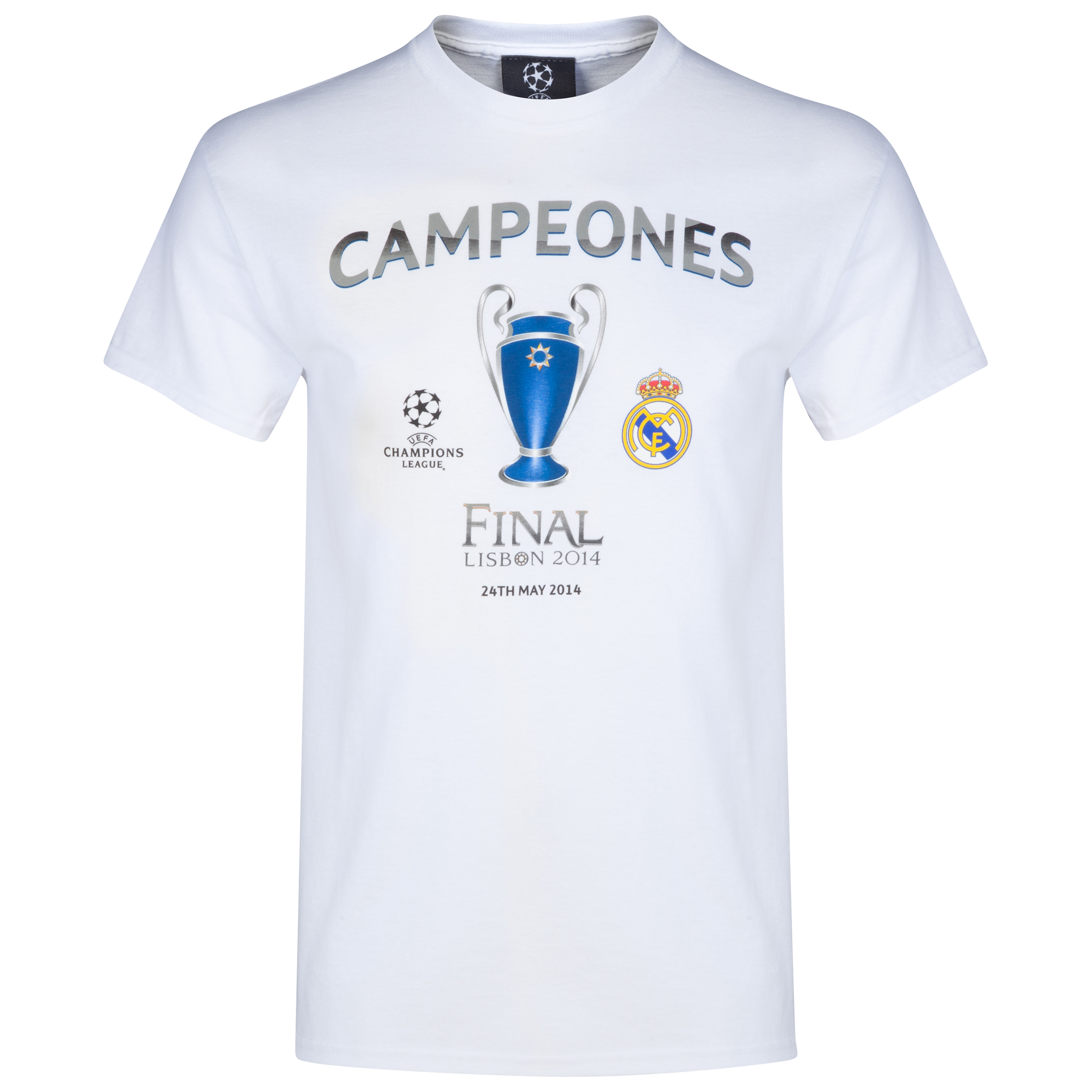 Real Madrid UCL Winners 2014 Campeones T-Shirt - White