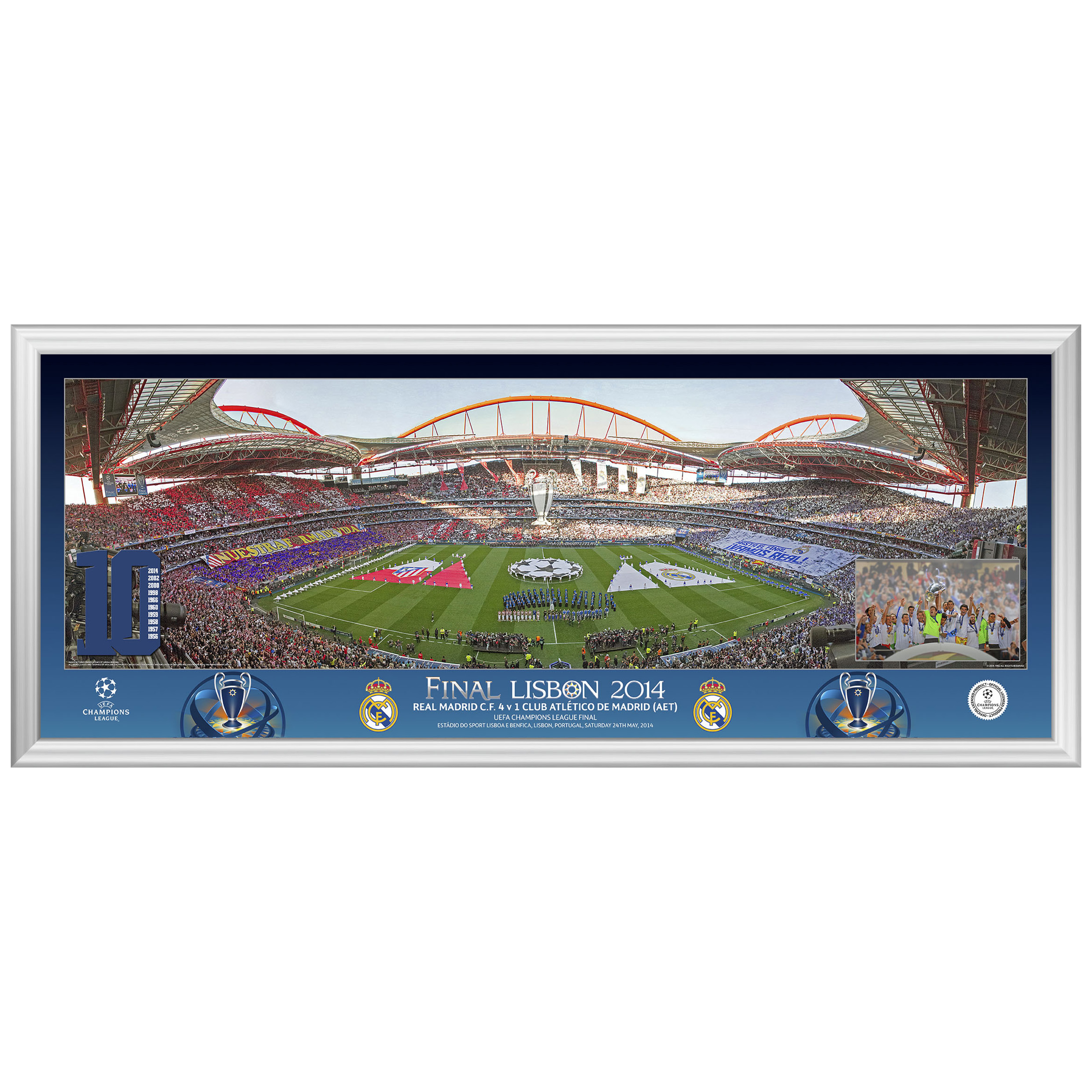 Real Madrid Champions League Final 2014 Line Up Panoramic Print - 30 x 12 Inch