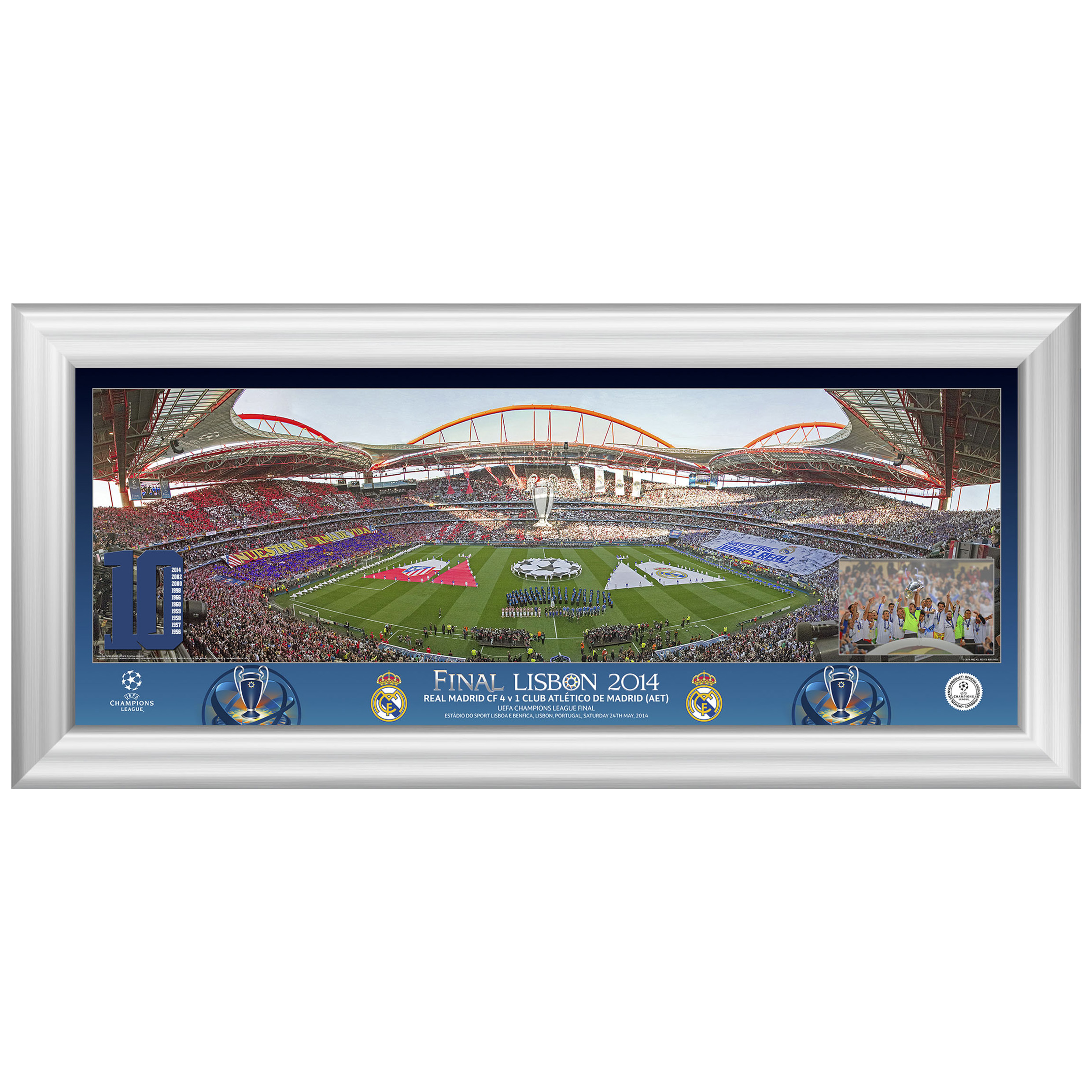 Real Madrid Champions League Final 2014 Line Up Panoramic Desktop Print - 13 x 5 Inch