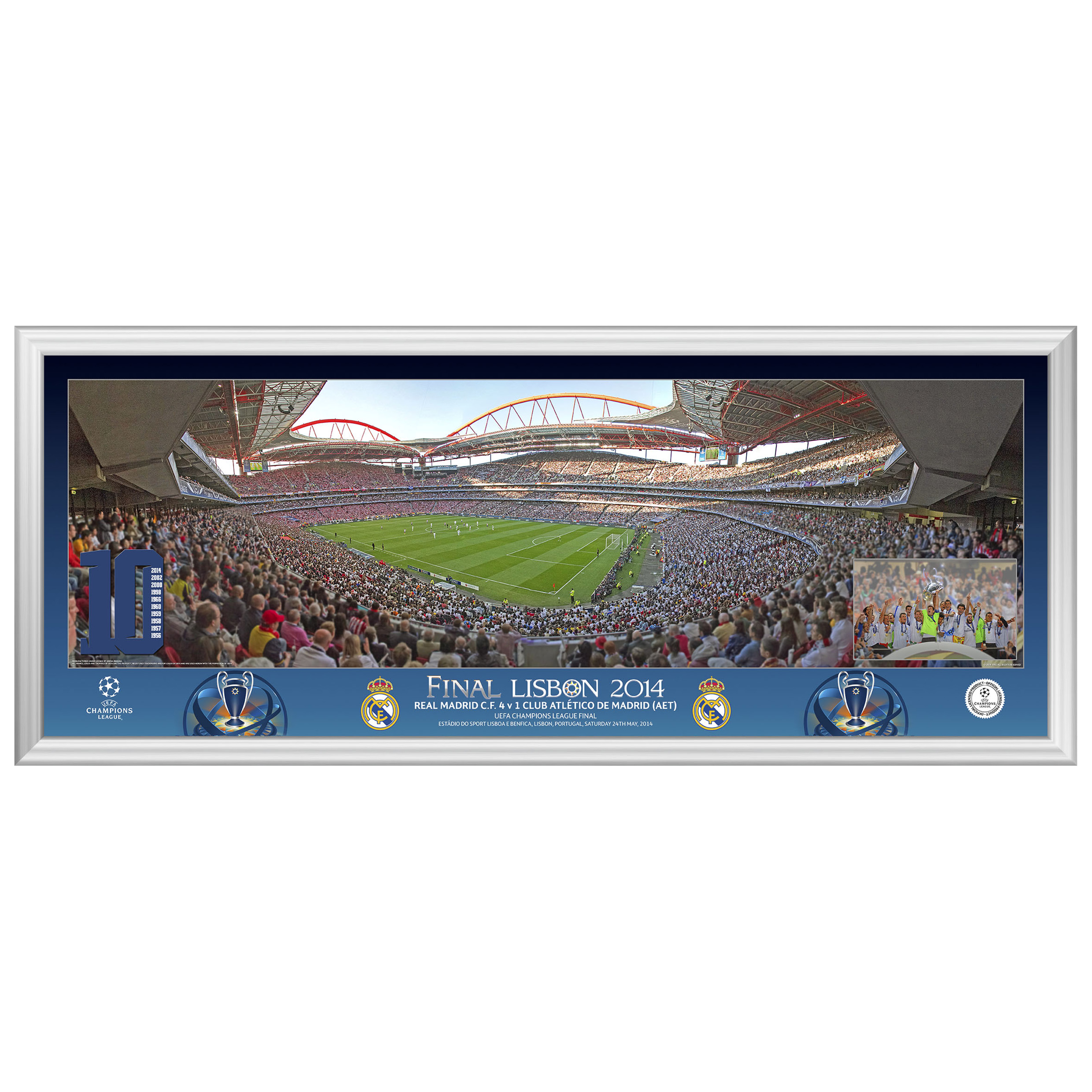 Real Madrid Champions League Final 2014 Match Panoramic Print - 30 x 12 Inch