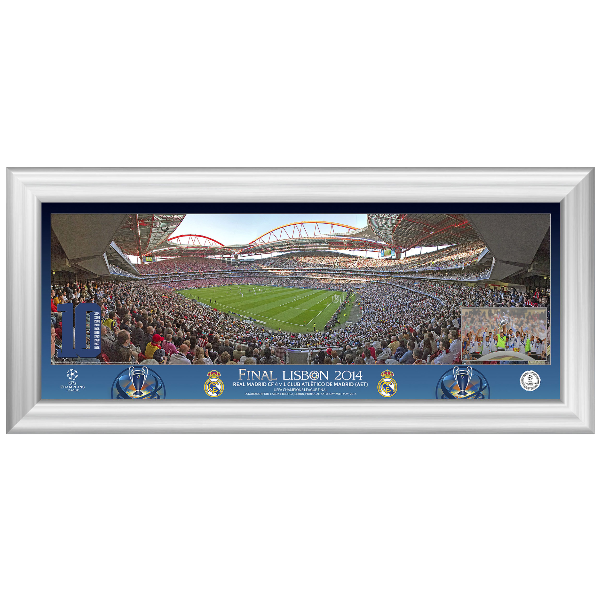 Real Madrid Champions League Final 2014 Match Panoramic Desktop Print - 13 x 5 Inch