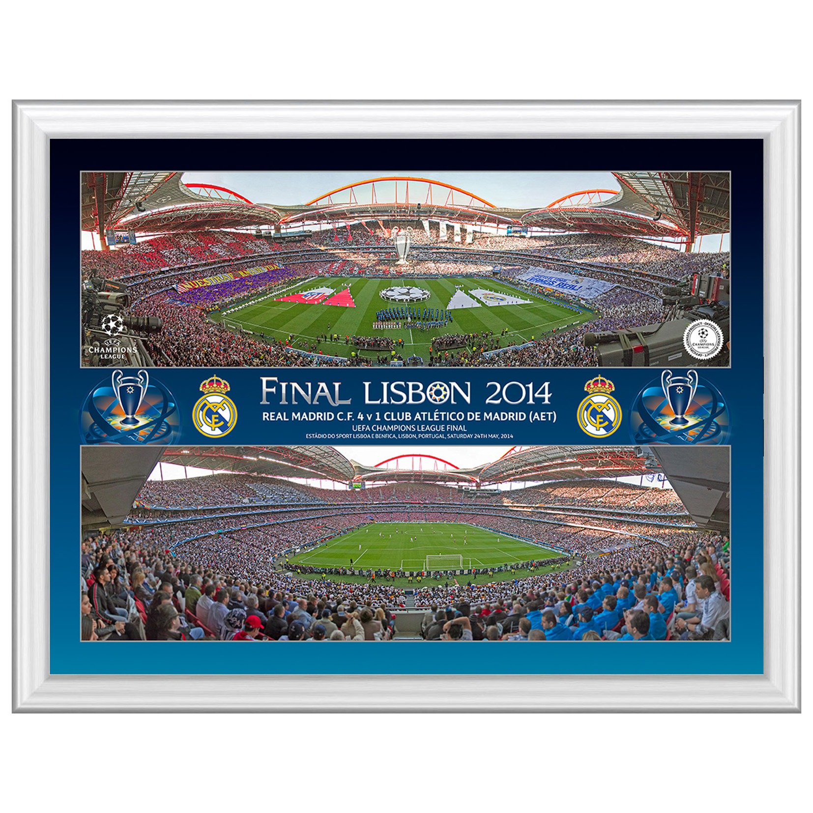Real Madrid Champions League Final 2014 Panoramic Montage Print - 16 x 12 Inch