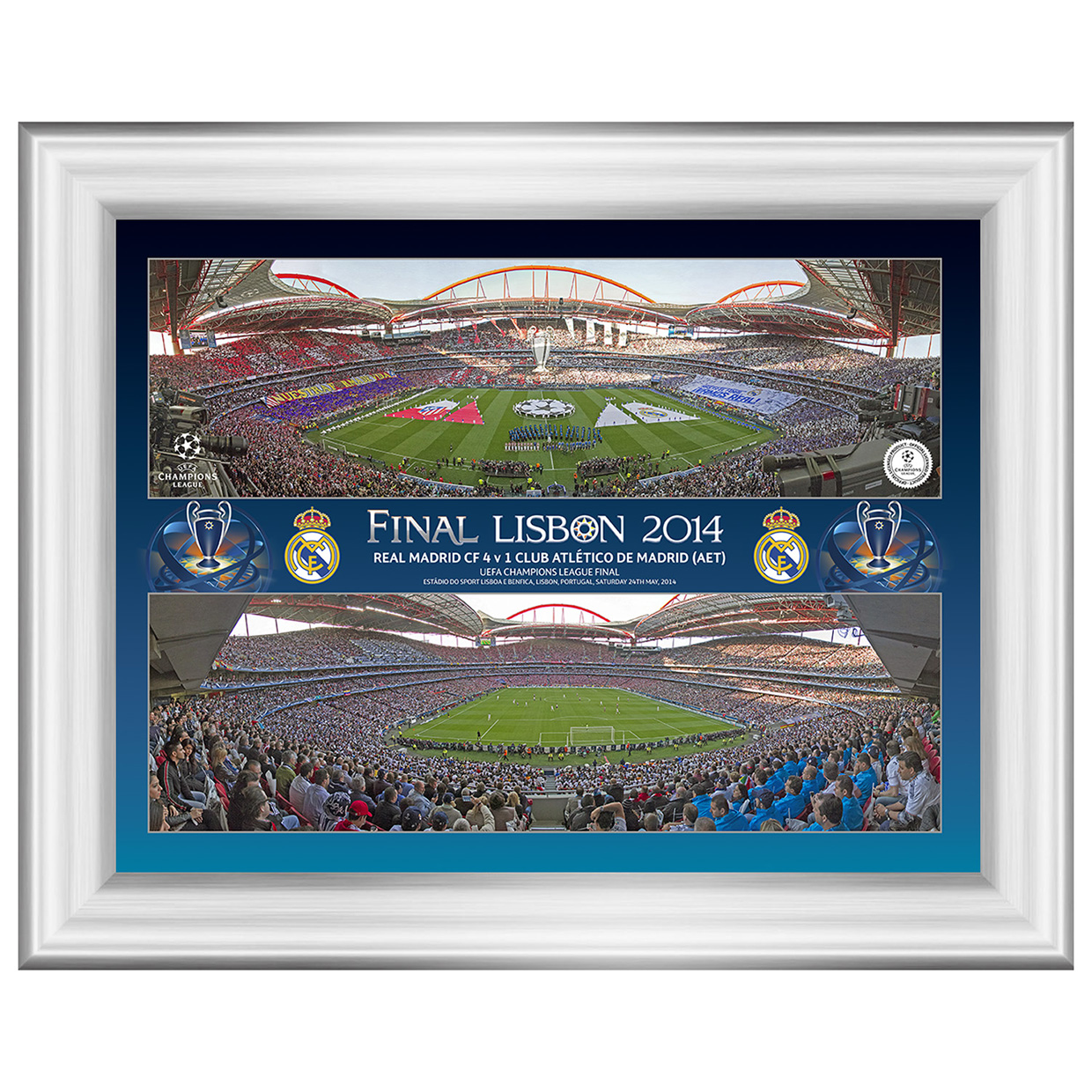 Real Madrid Champions League Final 2014 Line Up Panoramic Montage Desktop Print - 8 x 6 Inch