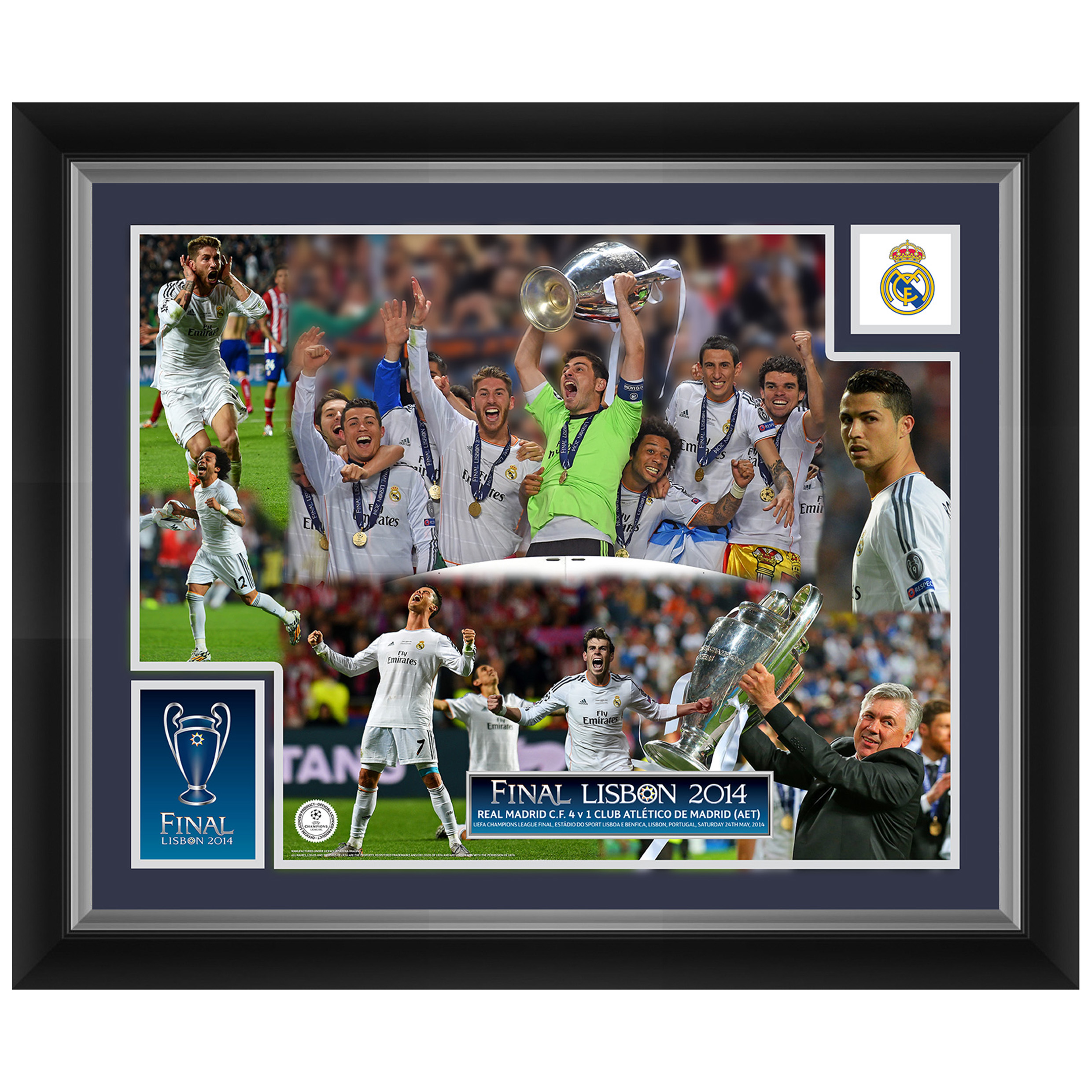 Real Madrid Champions League Final 2014 Celebration Montage Print - 20 x 16 inch