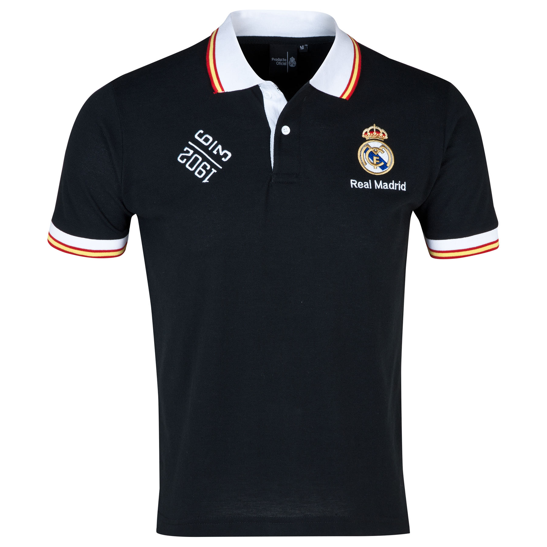 Real Madrid Fan Polo Shirt - Black - Mens