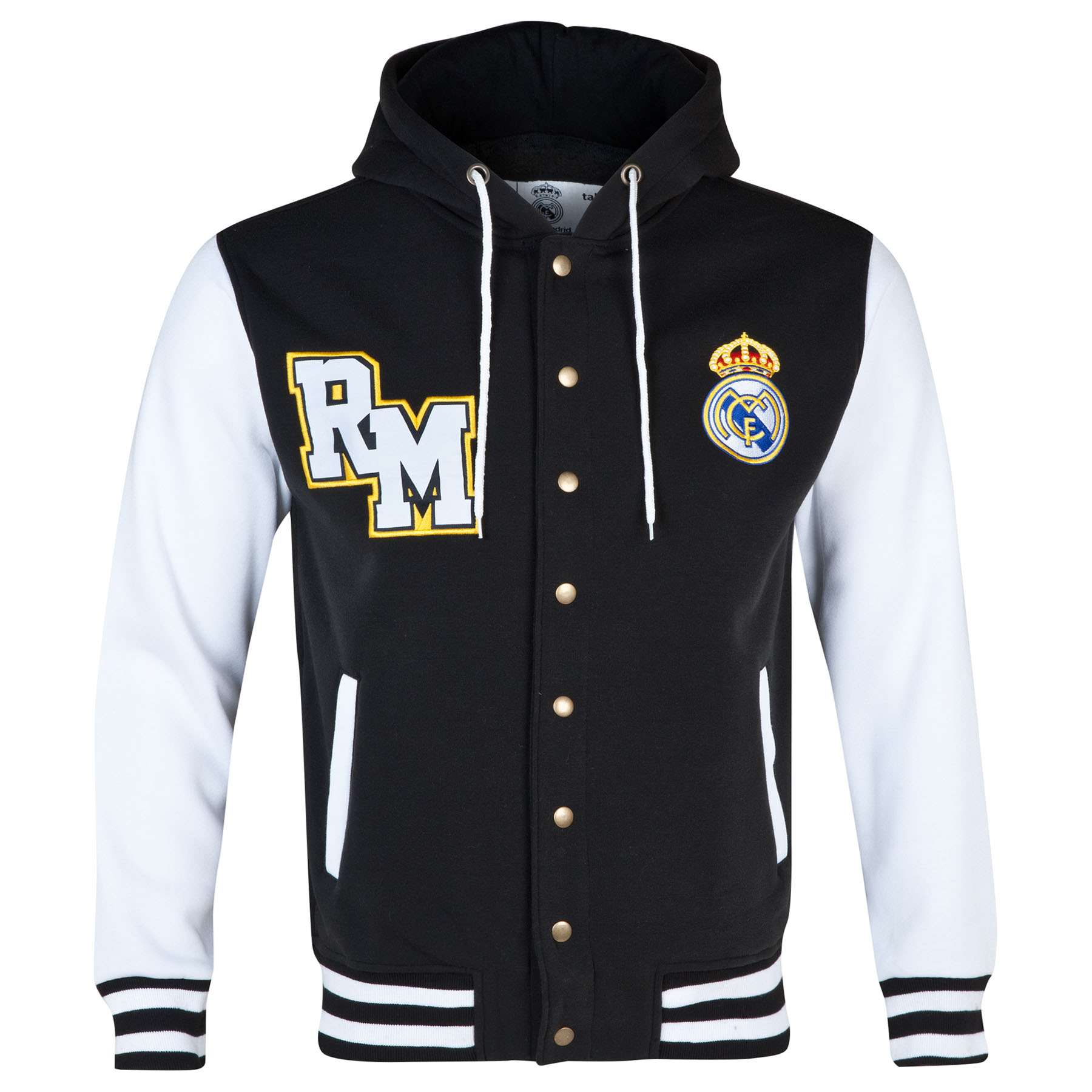 Real Madrid Baseball Jacket - Black/White - Mens