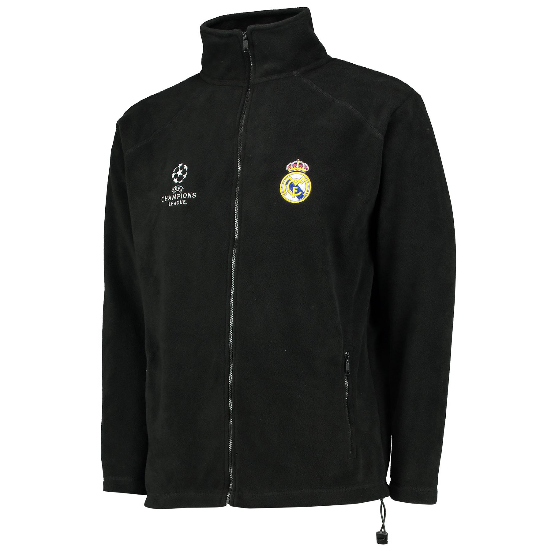 Real Madrid UEFA Champions League Fleece Jacket - Black - Mens