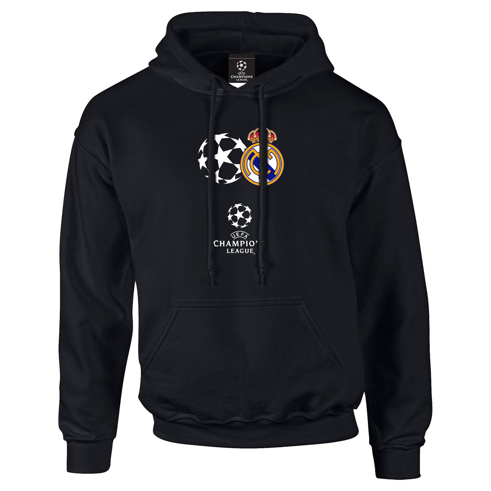 Real Madrid UEFA Champions League Hoodie - Black - Mens