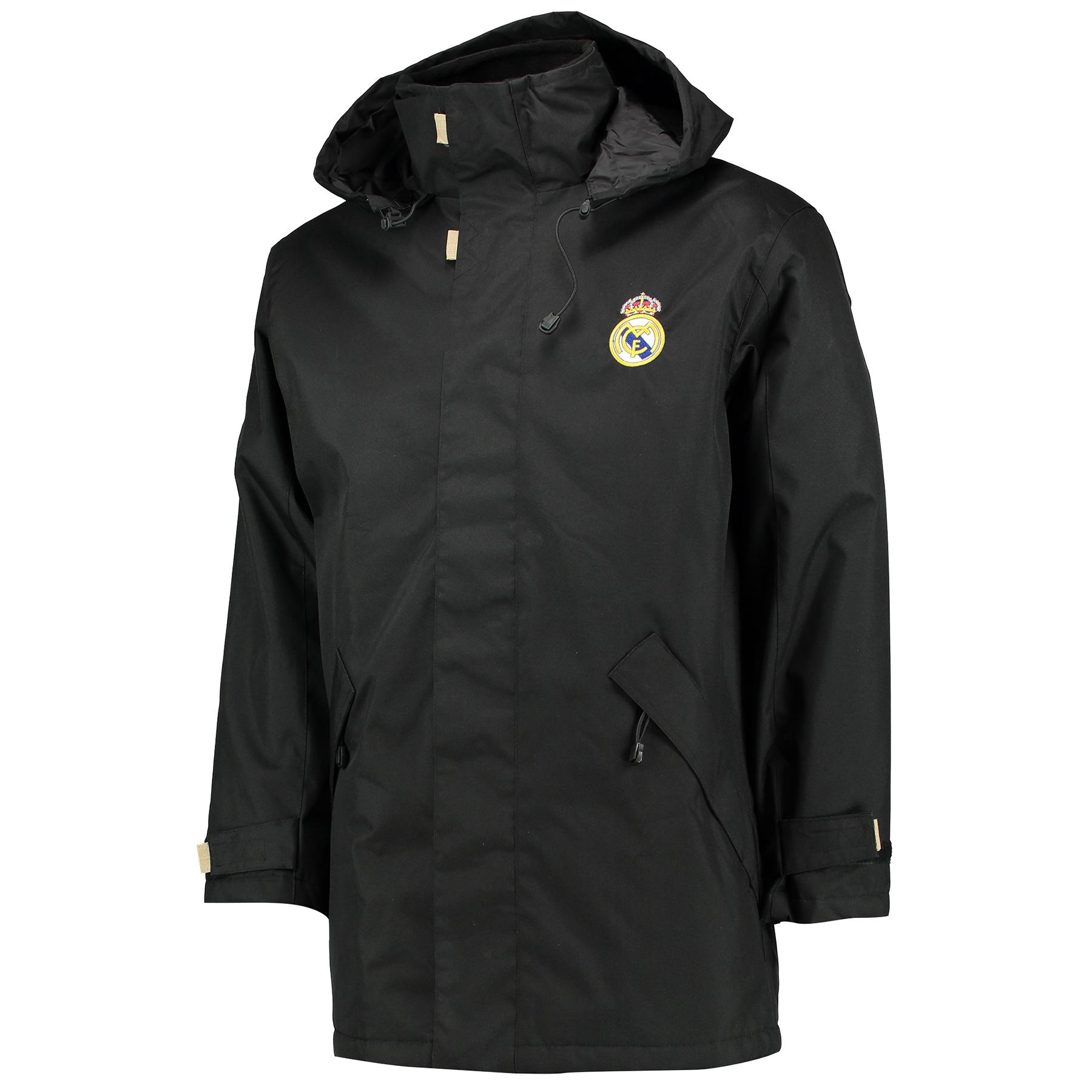 Real Madrid UEFA Champions League Heavy Weight Jacket - Black - Mens