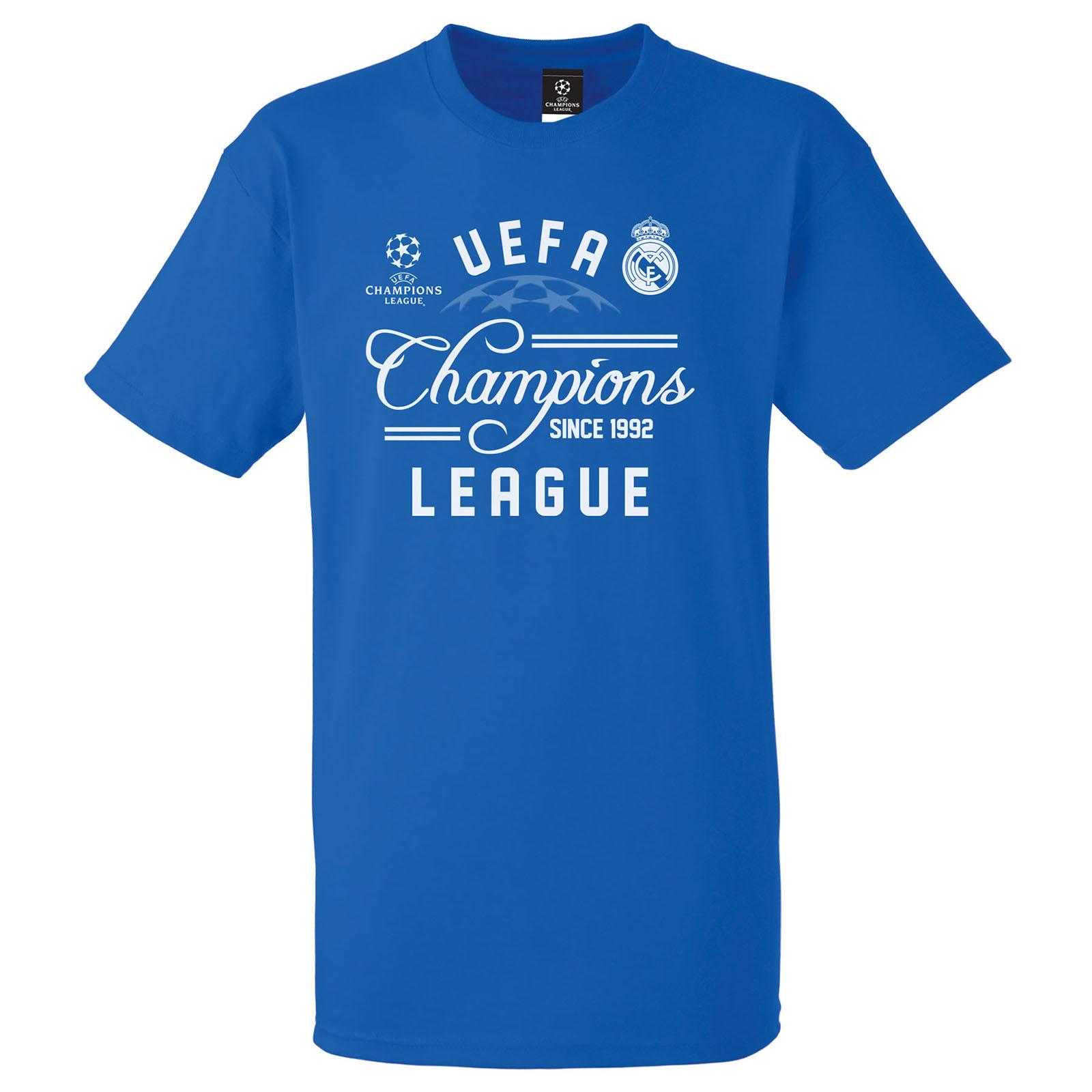 Real Madrid UEFA Champions League T-Shirt - Royal - Mens