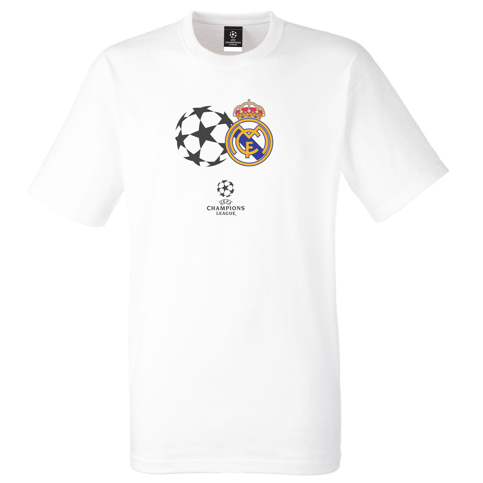 Real Madrid UEFA Champions League T-Shirt - White - Mens