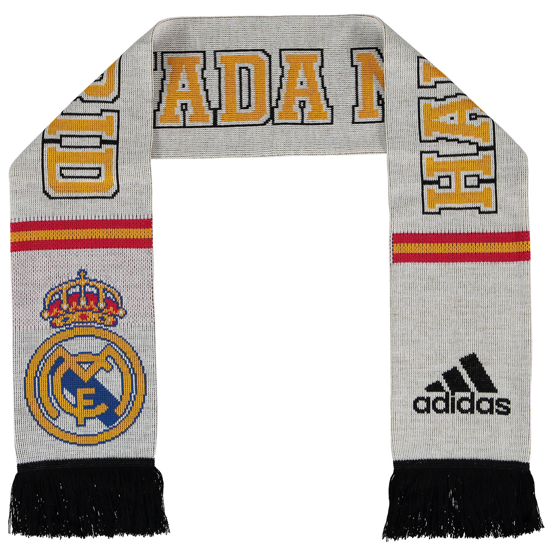 Bufanda con bandera del Real Madrid - Blanco