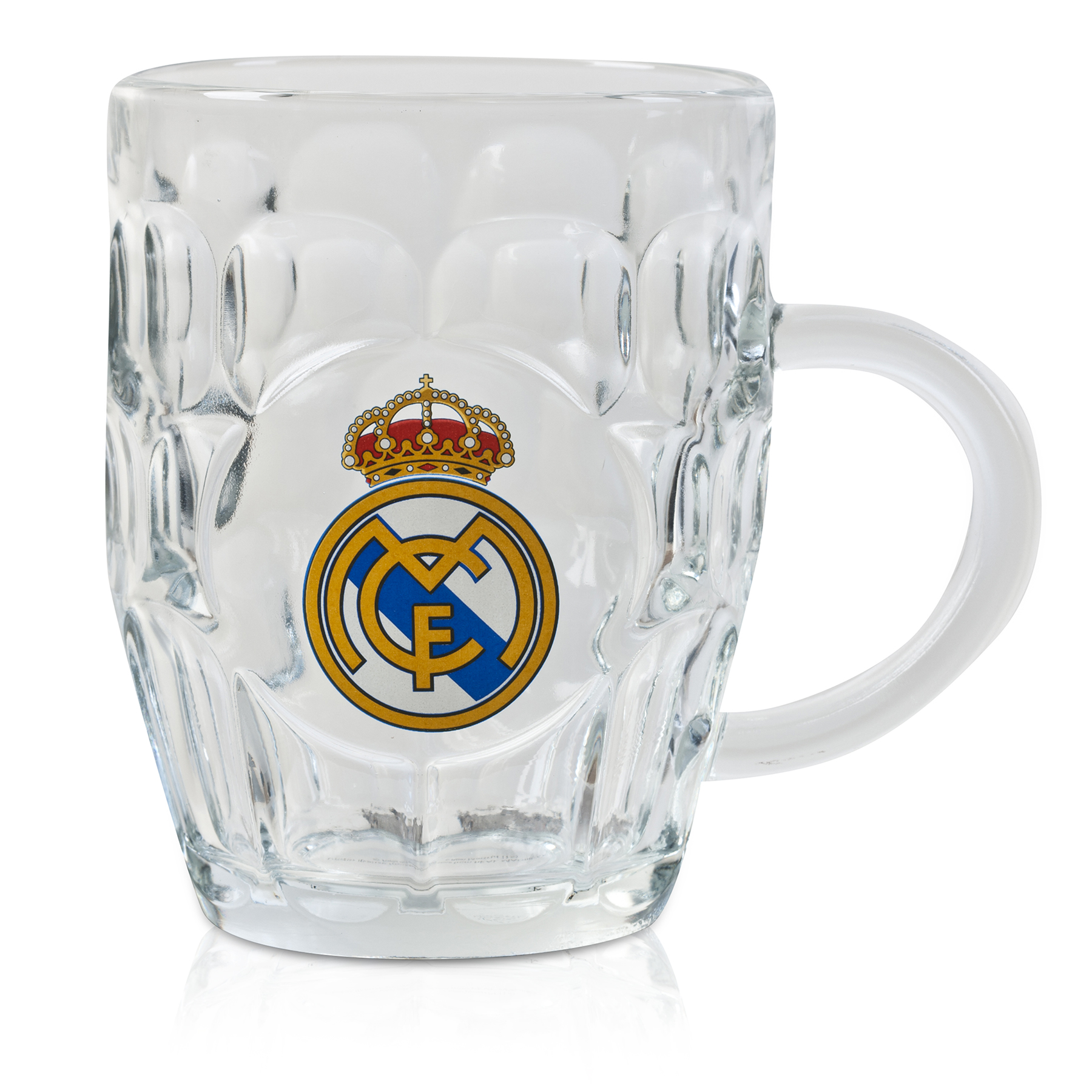 Real Madrid Dimple Pint Glass