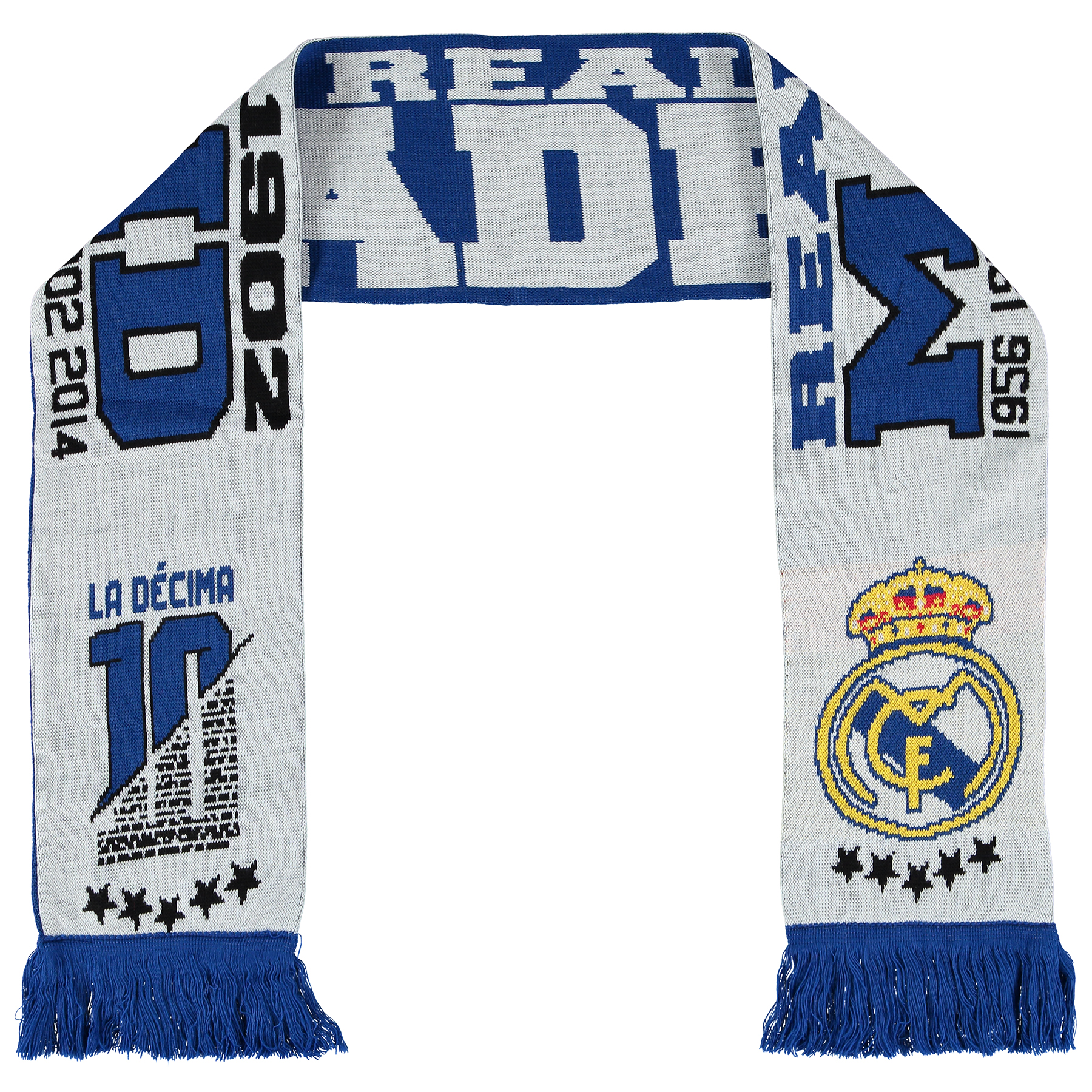 Real Madrid Real Madrid Champions Fan Scarf - White - Adult