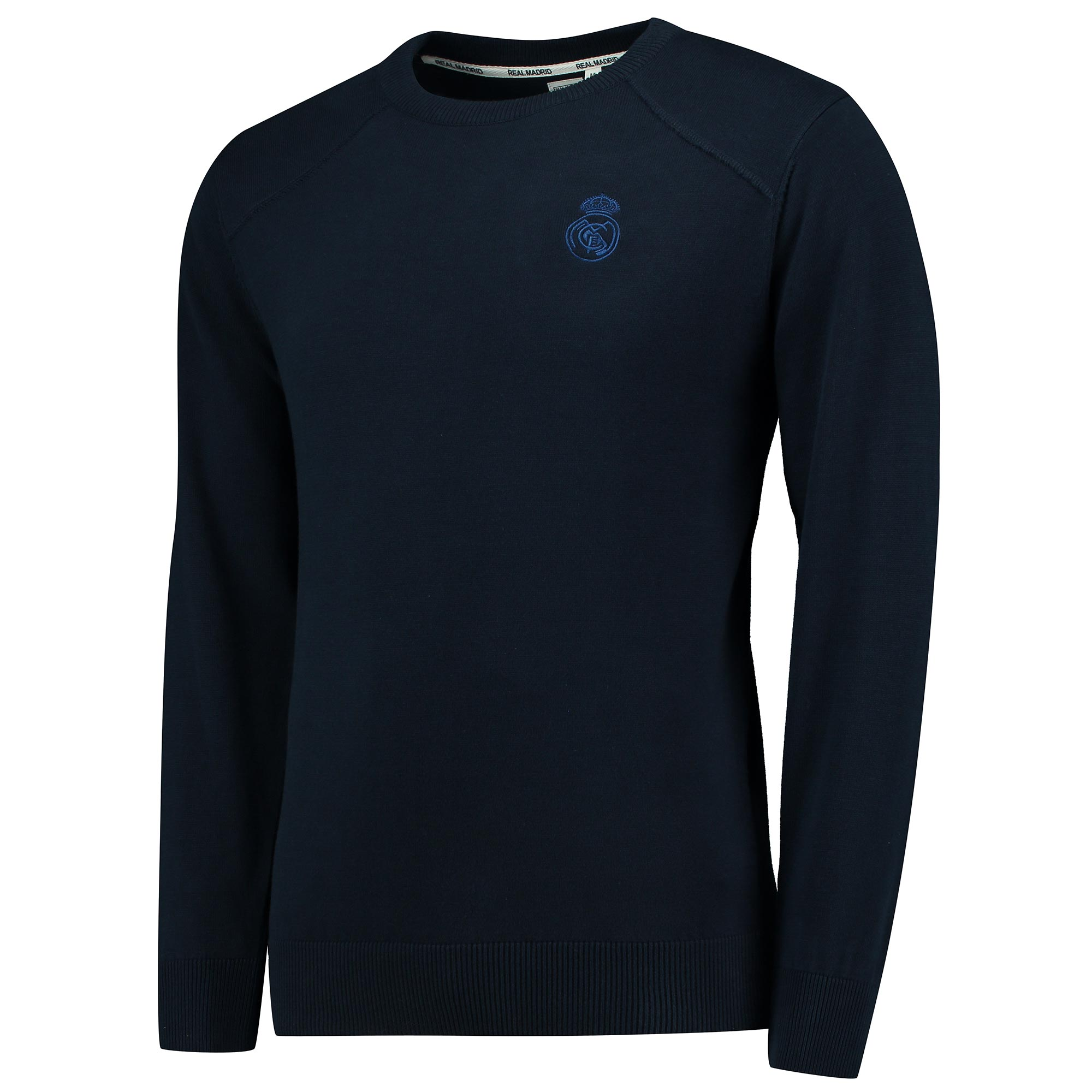 Image of Real Madrid Crew Neck Sweater - Navy - Mens