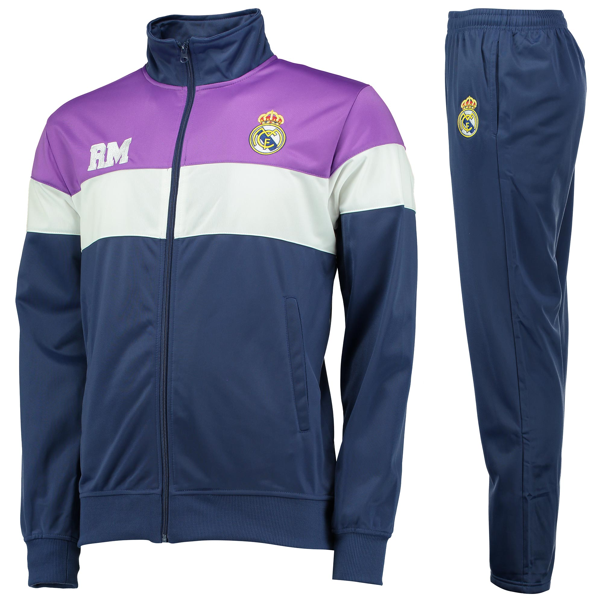 Image of Real Madrid Training Tracksuit - Navy - Mens