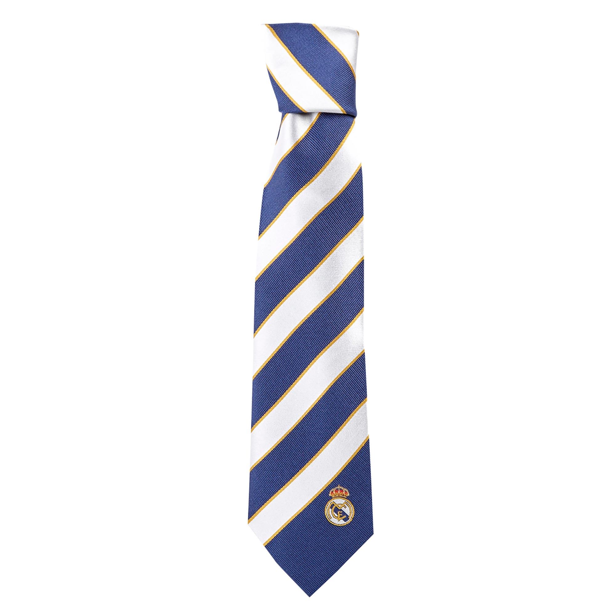 Cravate à rayures épaisses Real Madrid dans une boîte - Soie