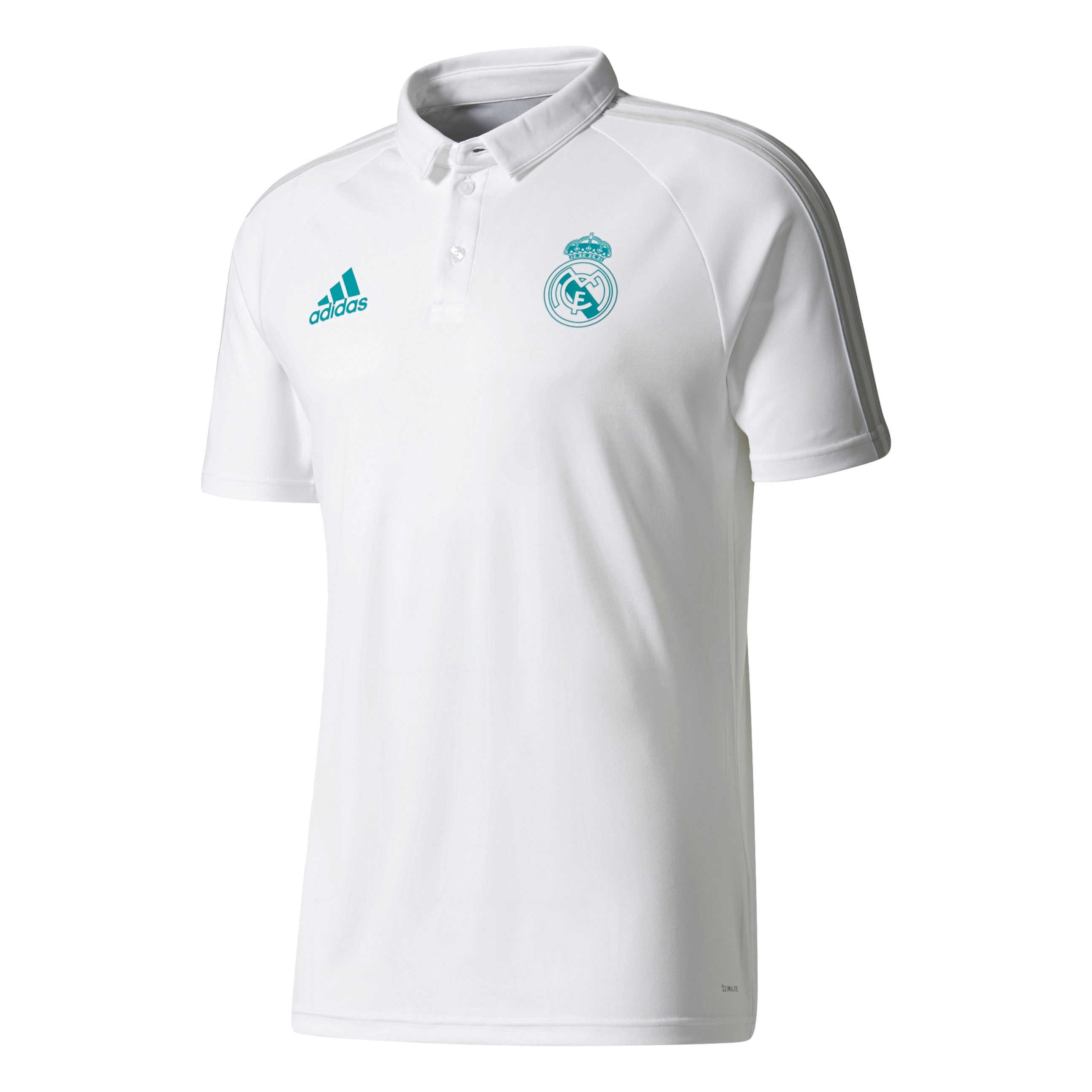 f627971a78 adidas Real Madrid Mens White Training Polo Shirt | BQ7815 | FOOTY.COM