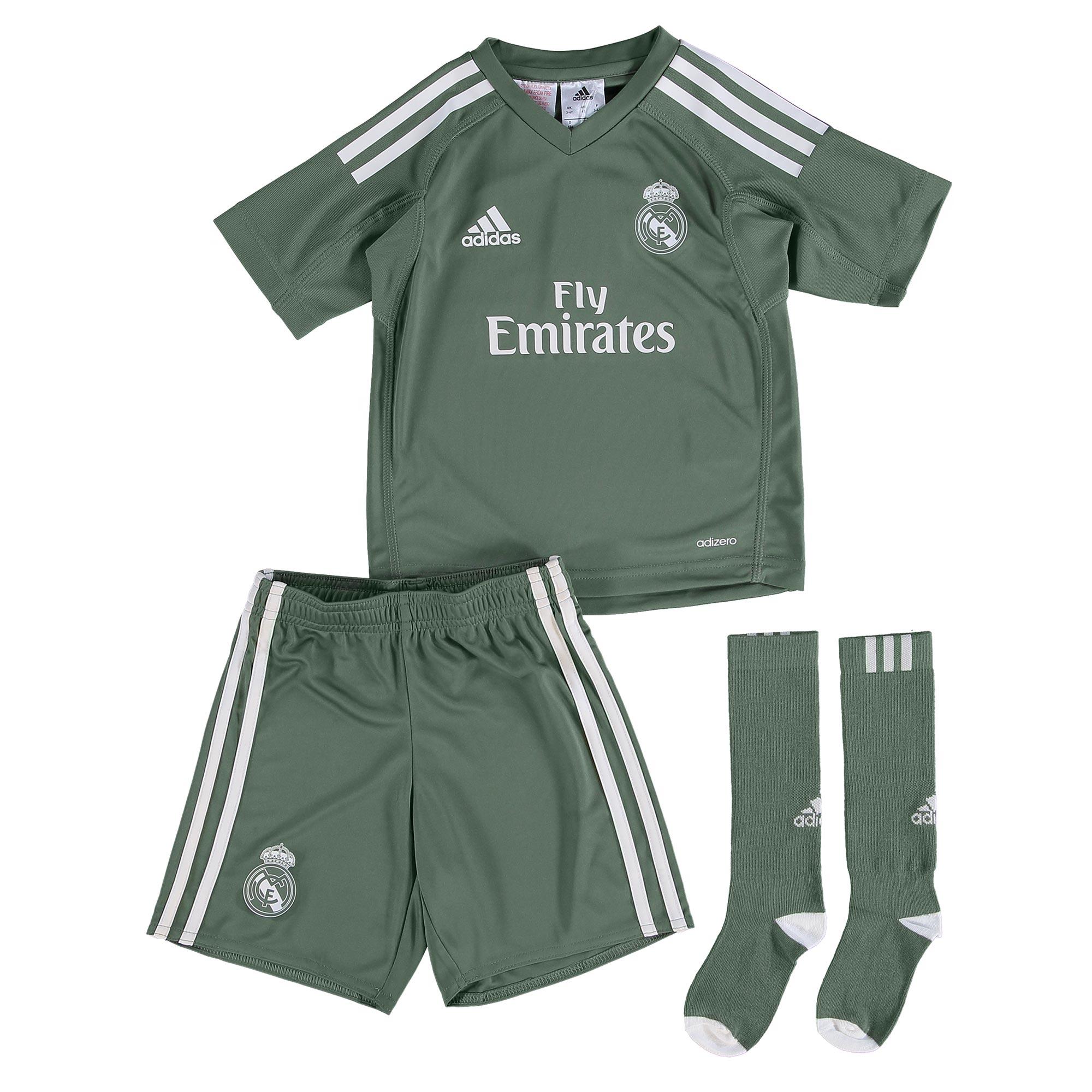 Conjunto mini de portero de la 1ª equipación Real Madrid 2017/18