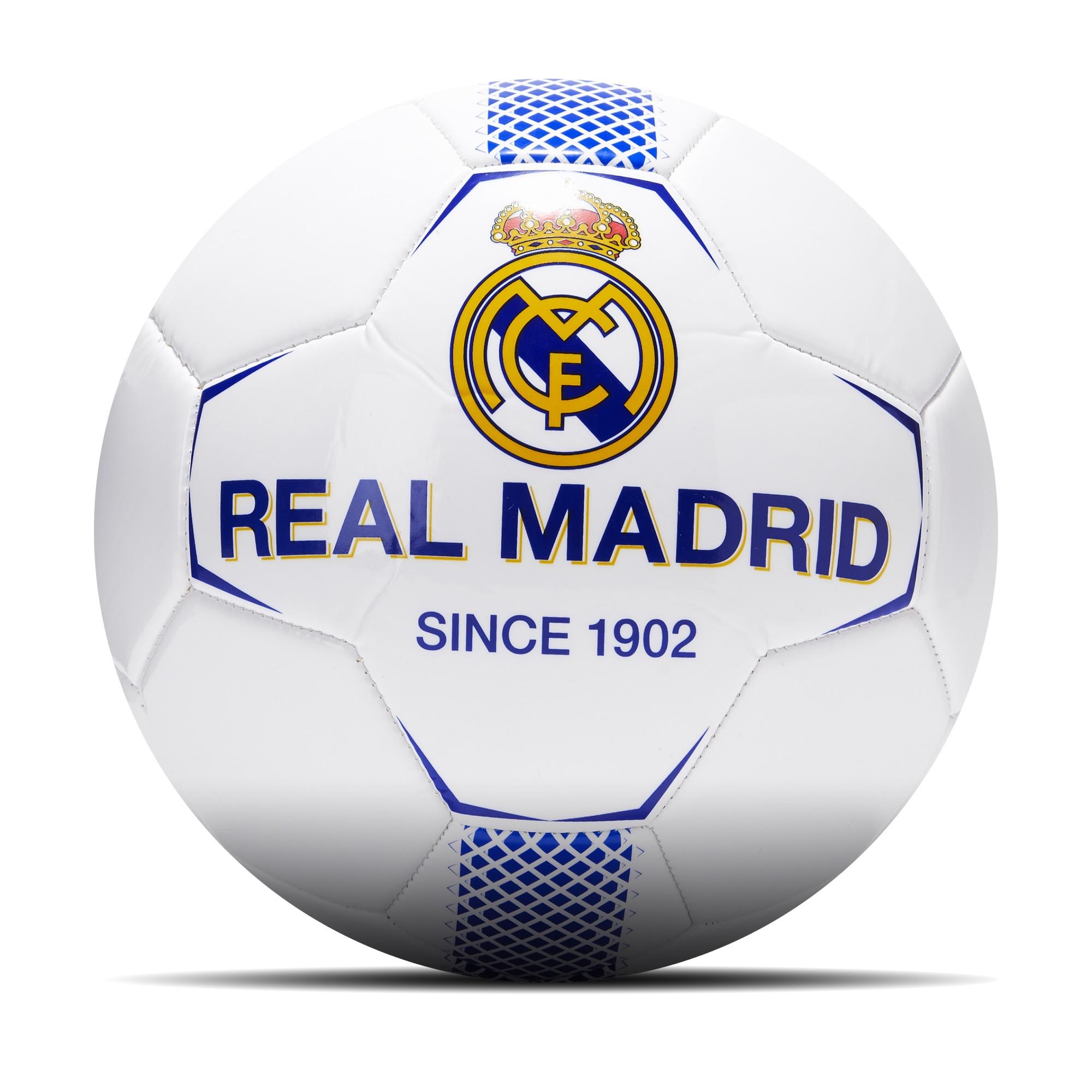 Prendas Deportivas Rogers SL / Balón de fútbol con escudo del Real Madrid en talla 5 en blanco