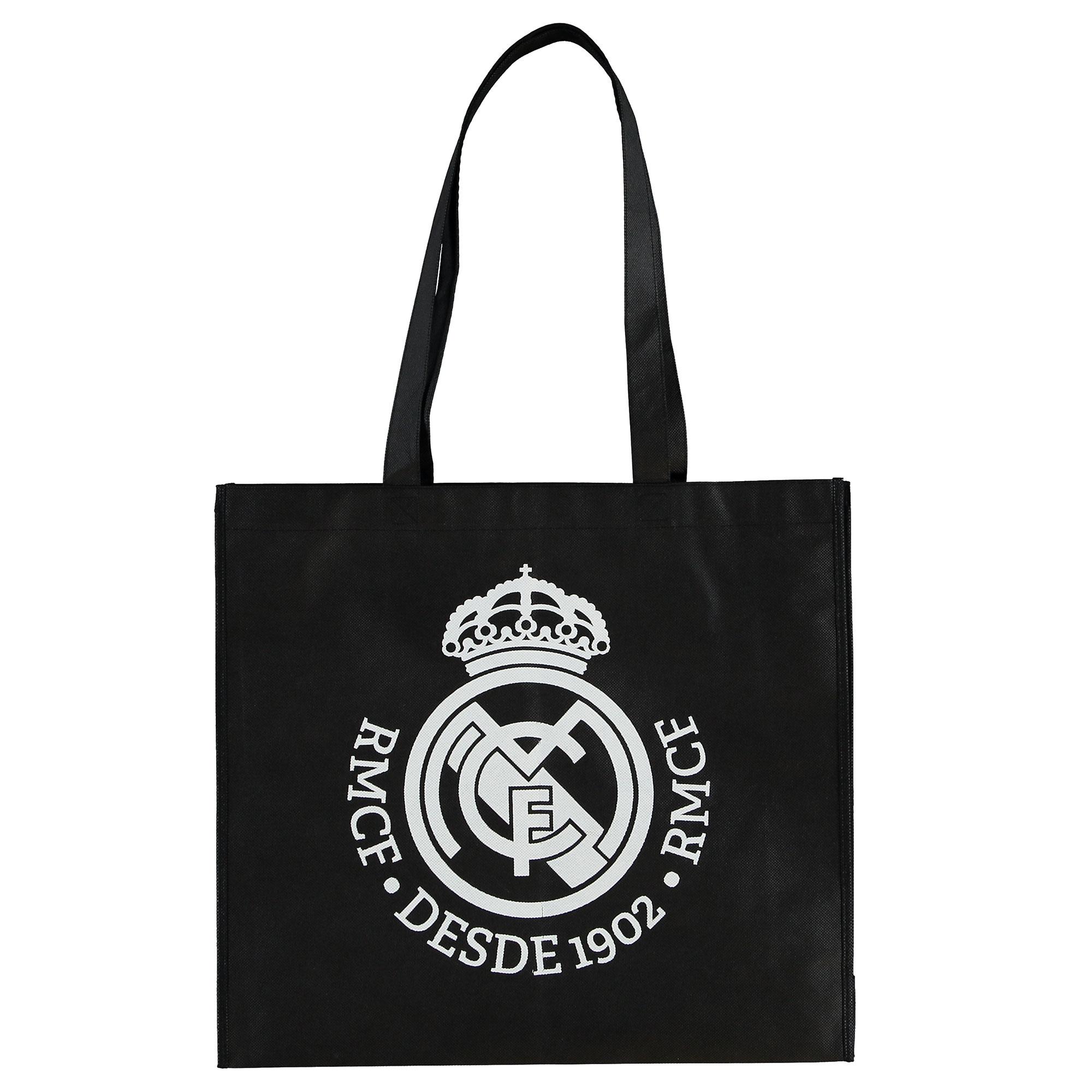 Sac de shopping avec écusson du Real Madrid - Noir