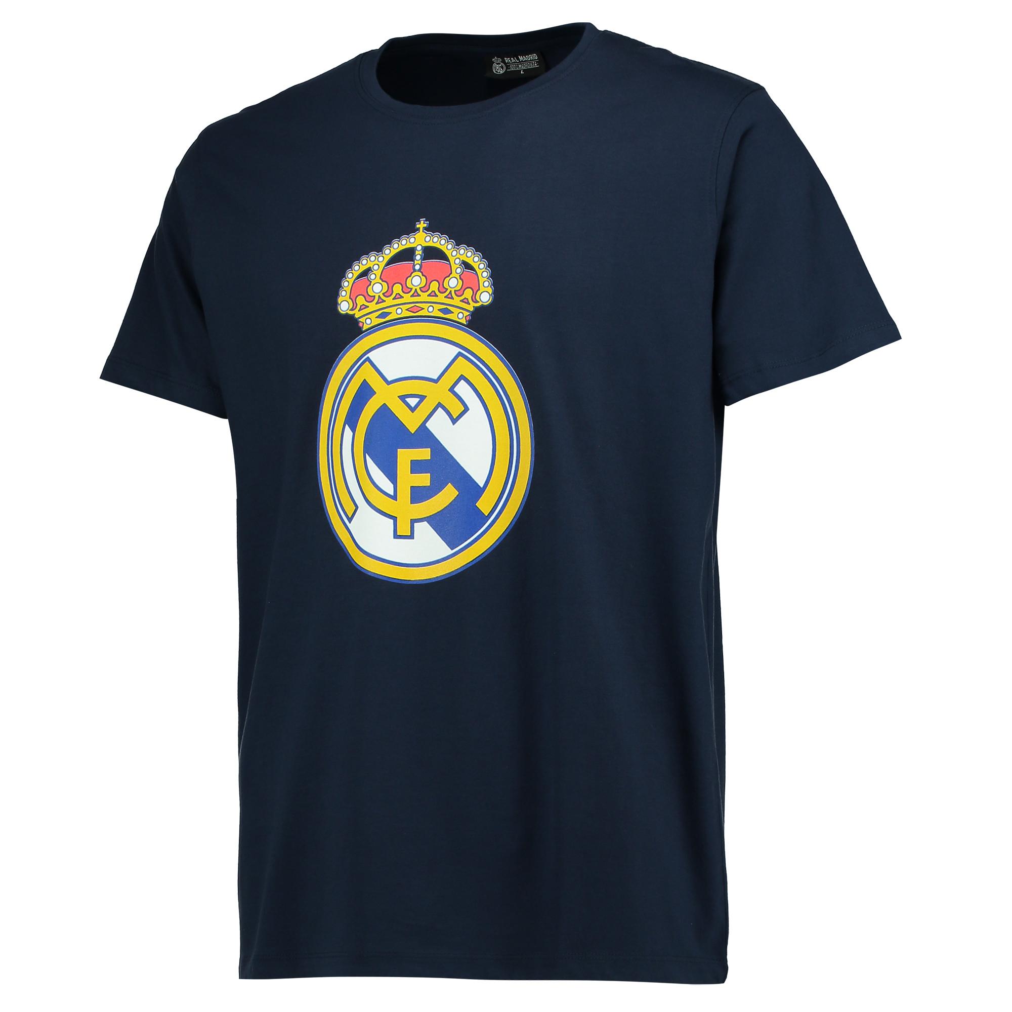 Tee-shirt à écusson Real Madrid- Bleu marine- Homme
