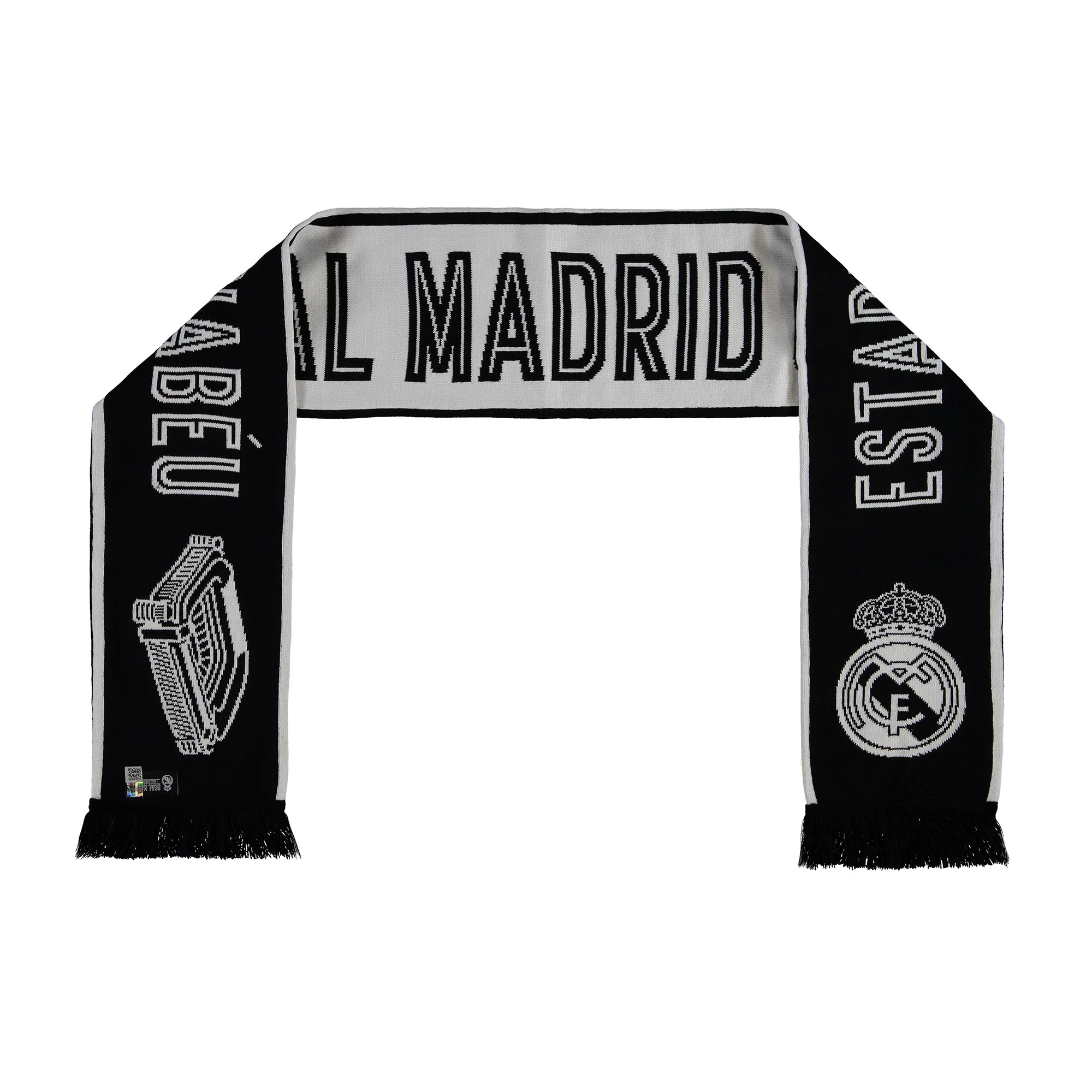 Écharpe de fan Stadium Real Madrid - Blanc/Noir - Adulte