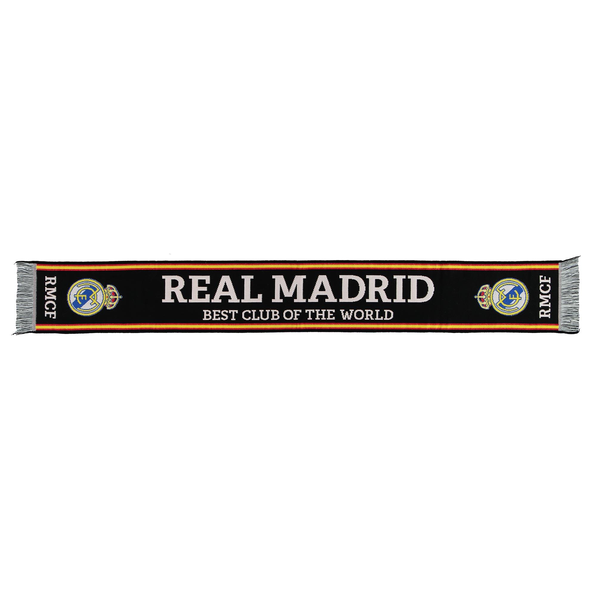Écharpe de fan Best Club Of The World Real Madrid- Noir- Adulte