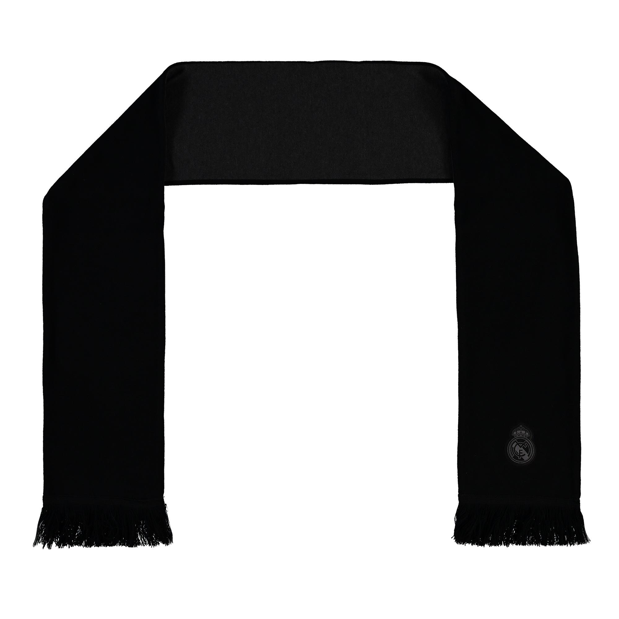 Écharpe Premium RMCF Real Madrid- Noir/Gris- Adulte
