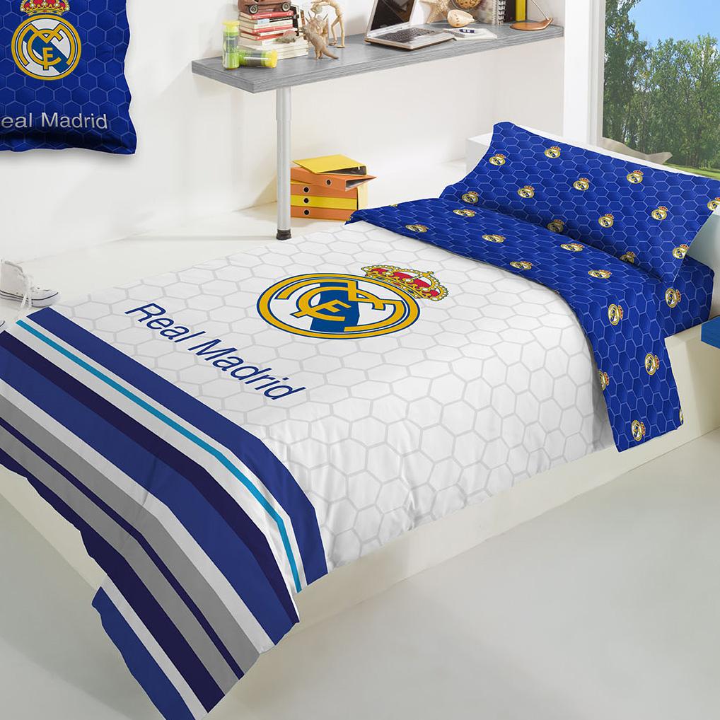 Parure de drap avec écusson du Real Madrid - 160 x 260