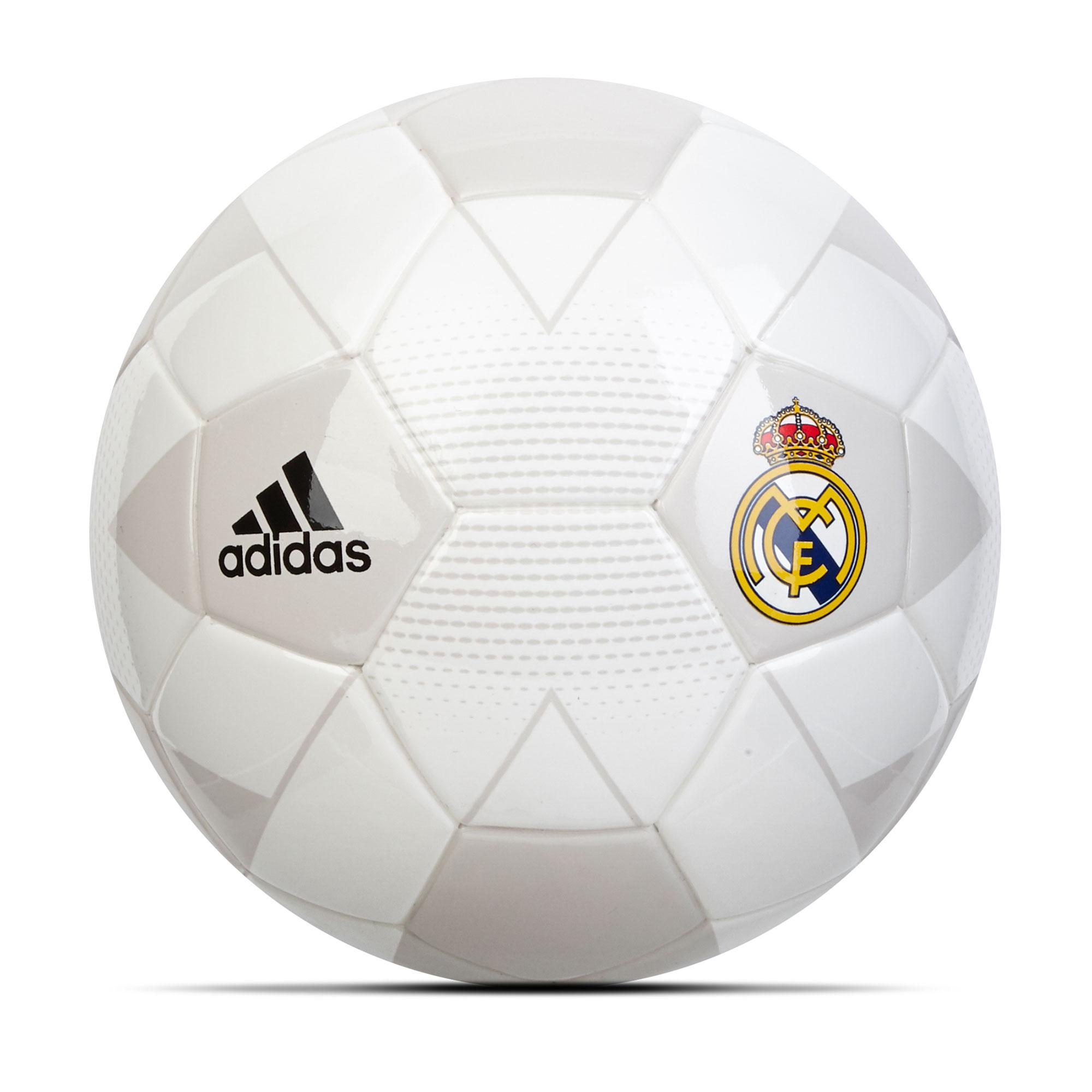 Minibalón de fútbol Real Madrid — Tamaño 1 — Blanco