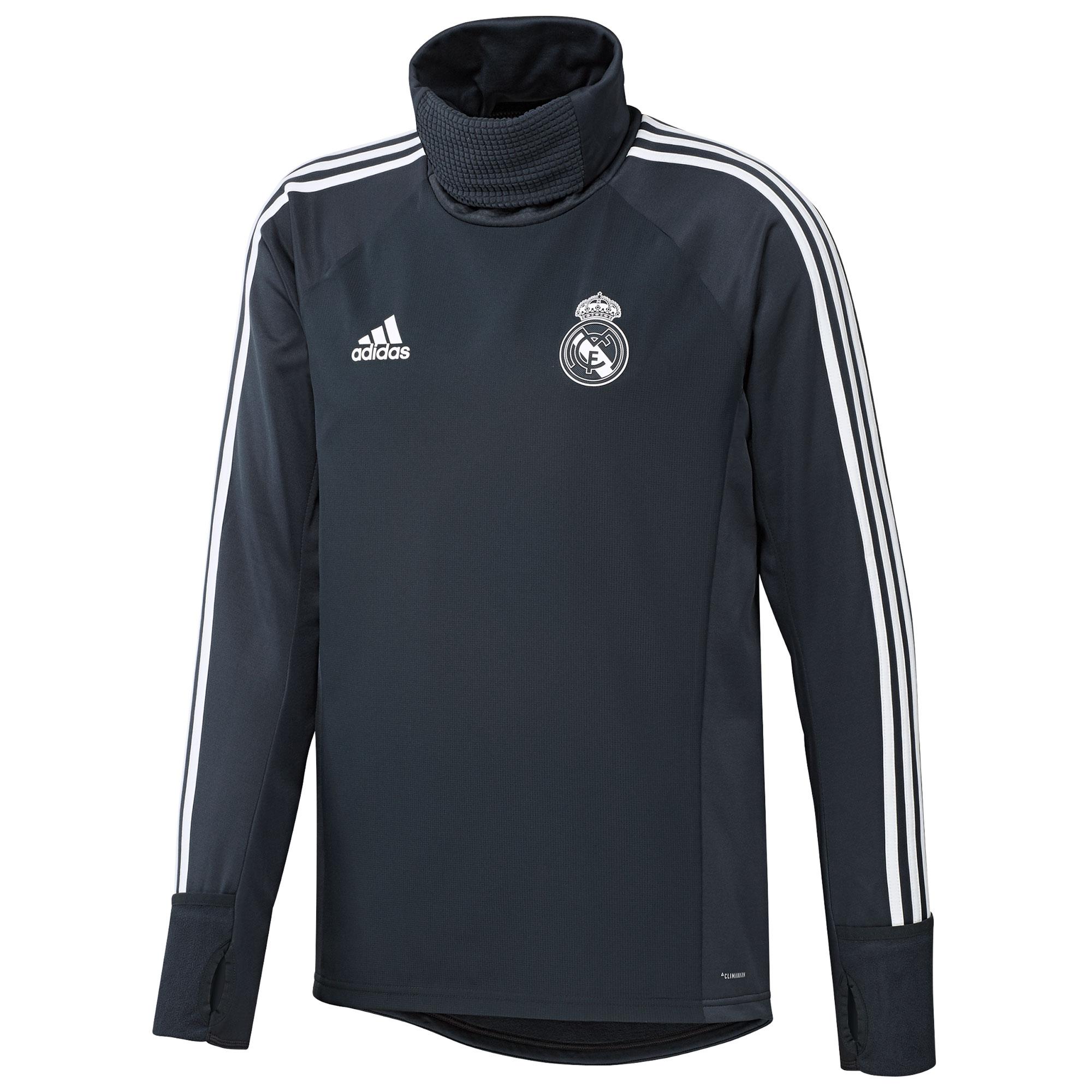 Sudadera de abrigo de entrenamiento del Real Madrid en gris oscuro