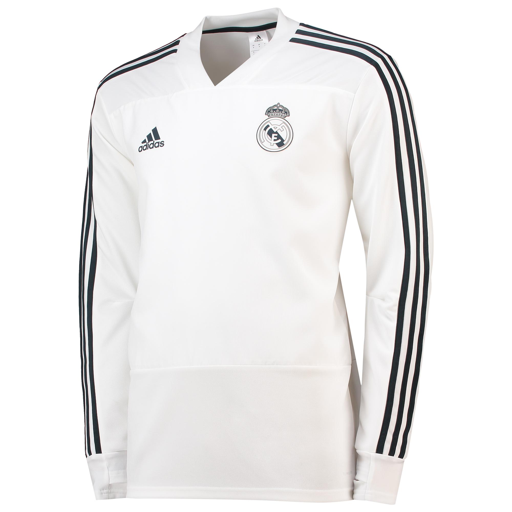 Sudadera de entrenamiento del Real Madrid en blanco