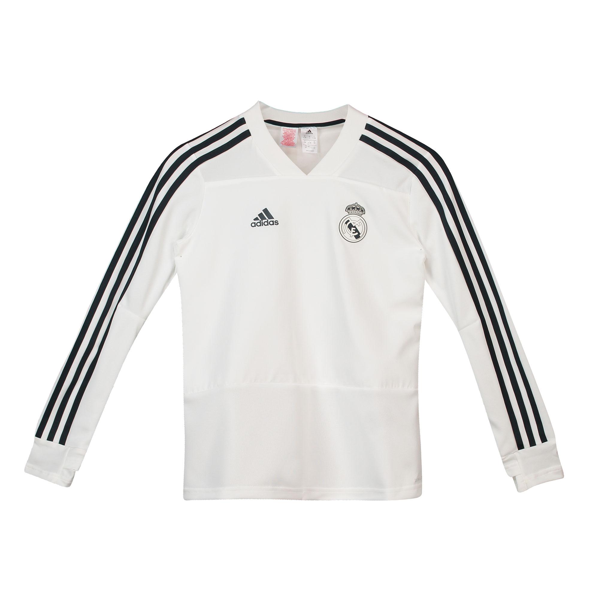 Sudadera de entrenamiento del Real Madrid en blanco para niños