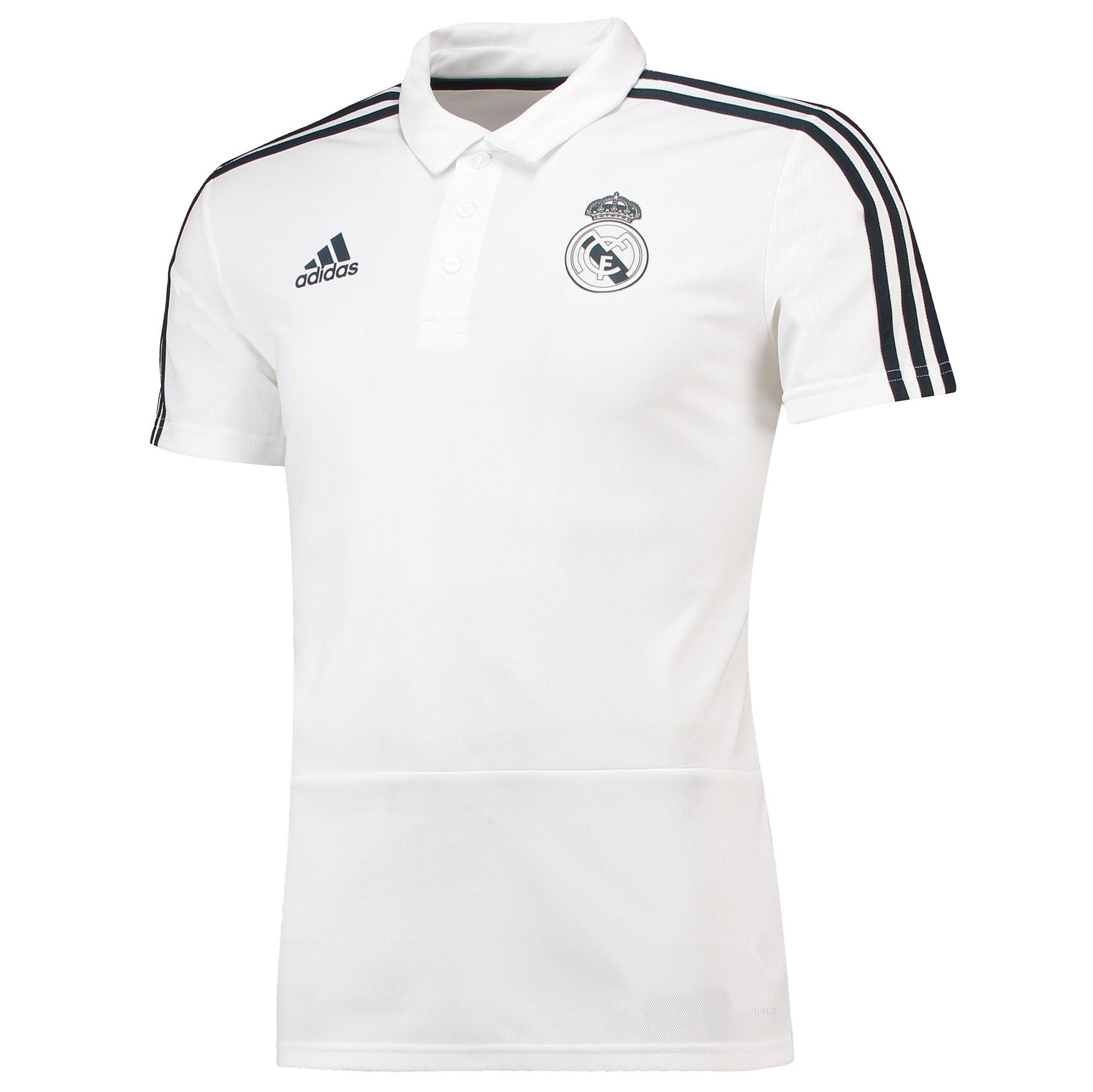 Polo de entrenamiento del Real Madrid en blanco