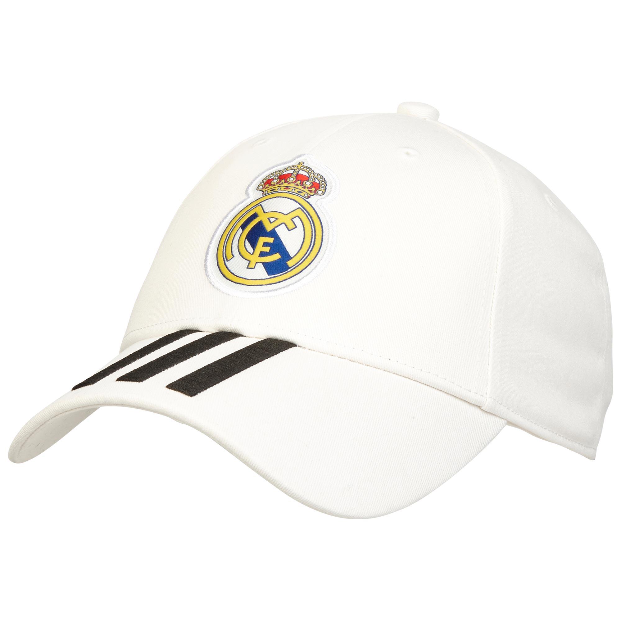 Image of Real Madrid 3 Stripe Cap - White
