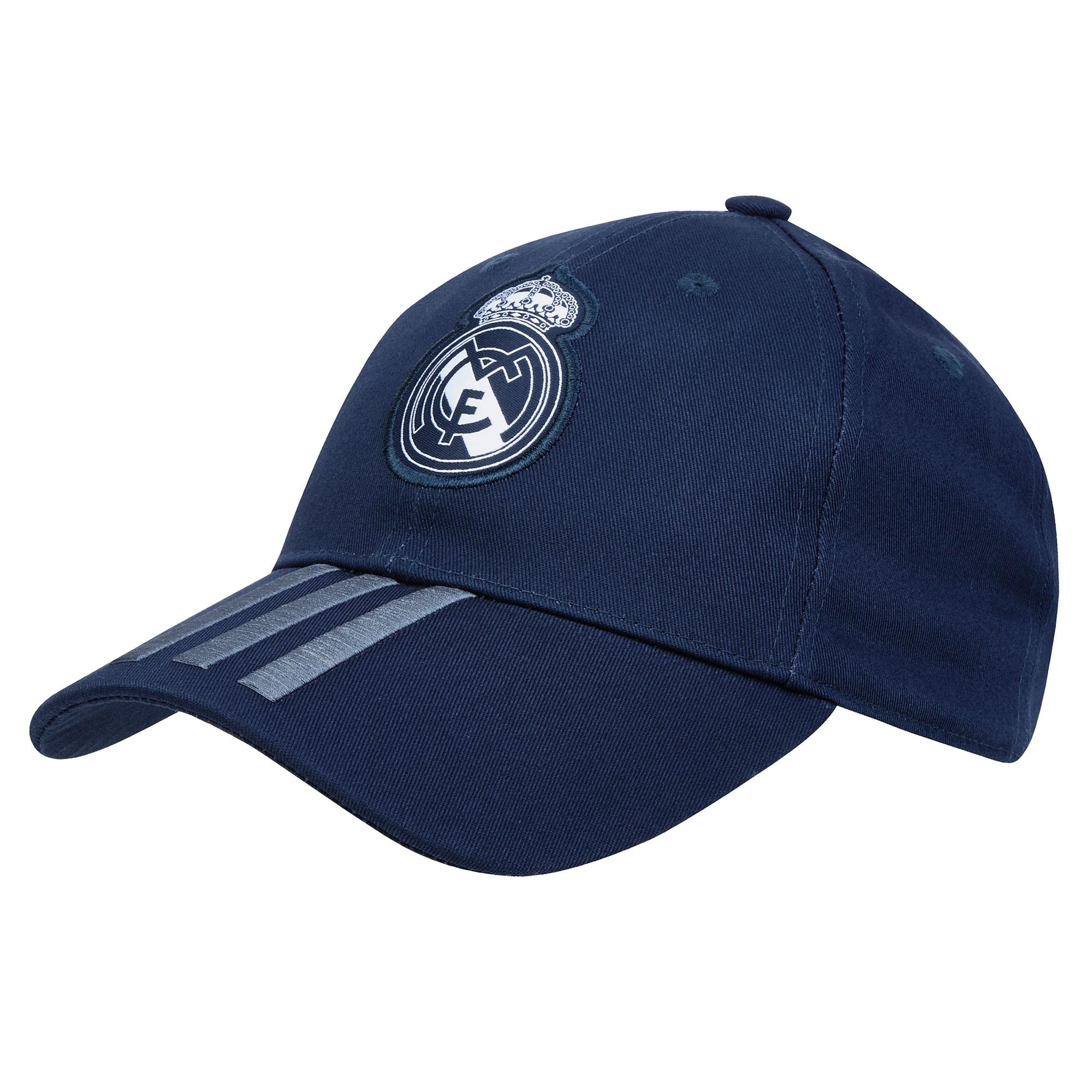 Image of Real Madrid 3 Stripe Cap - Dark Grey