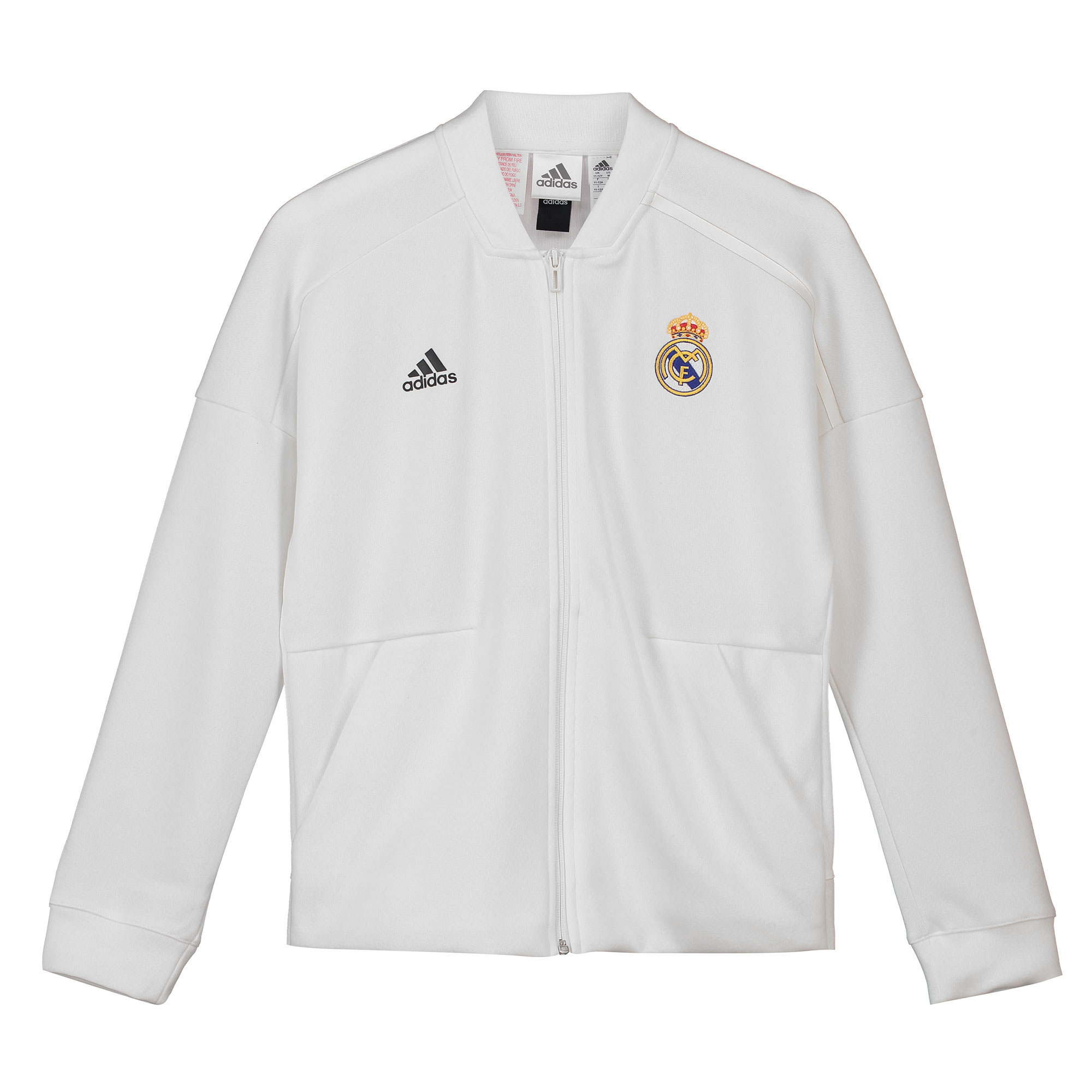 Chaqueta Anthem ZNE de la equipación local del Real Madrid en blanco para niños