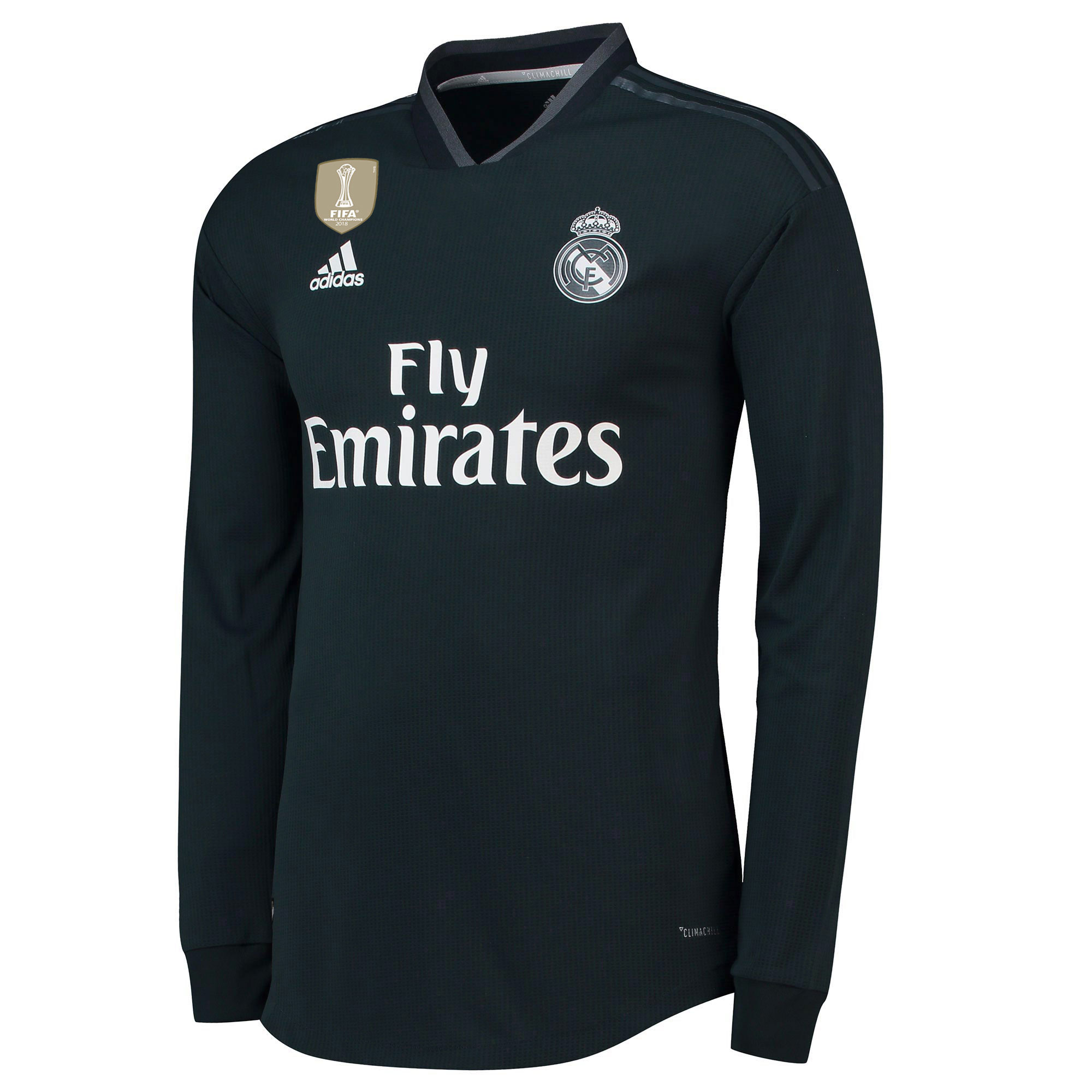 Image of Real Madrid Away Authentic Shirt 2018-19 - Long Sleeve