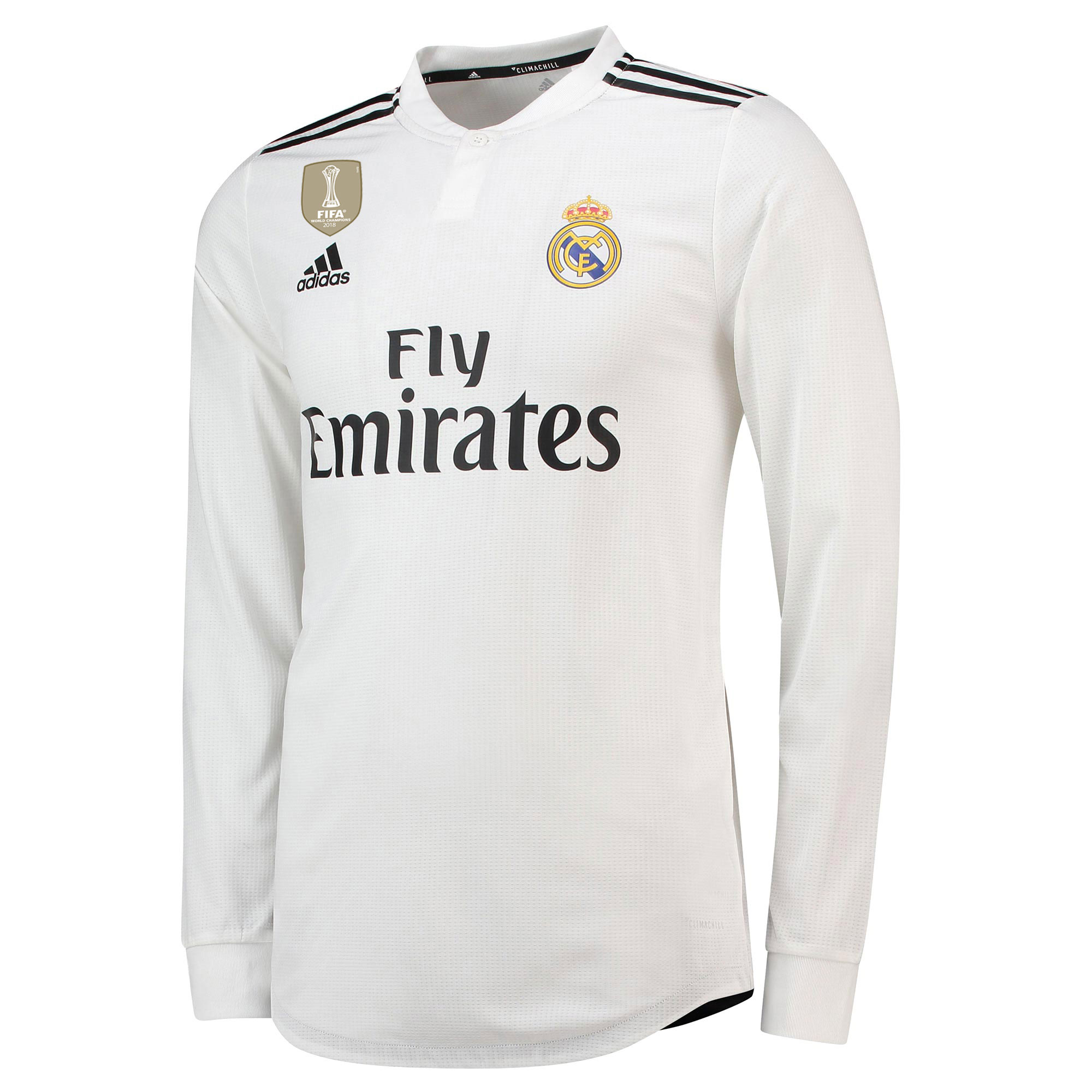 Real Madrid Home Authentic Shirt 2018-19 - Long Sleeve