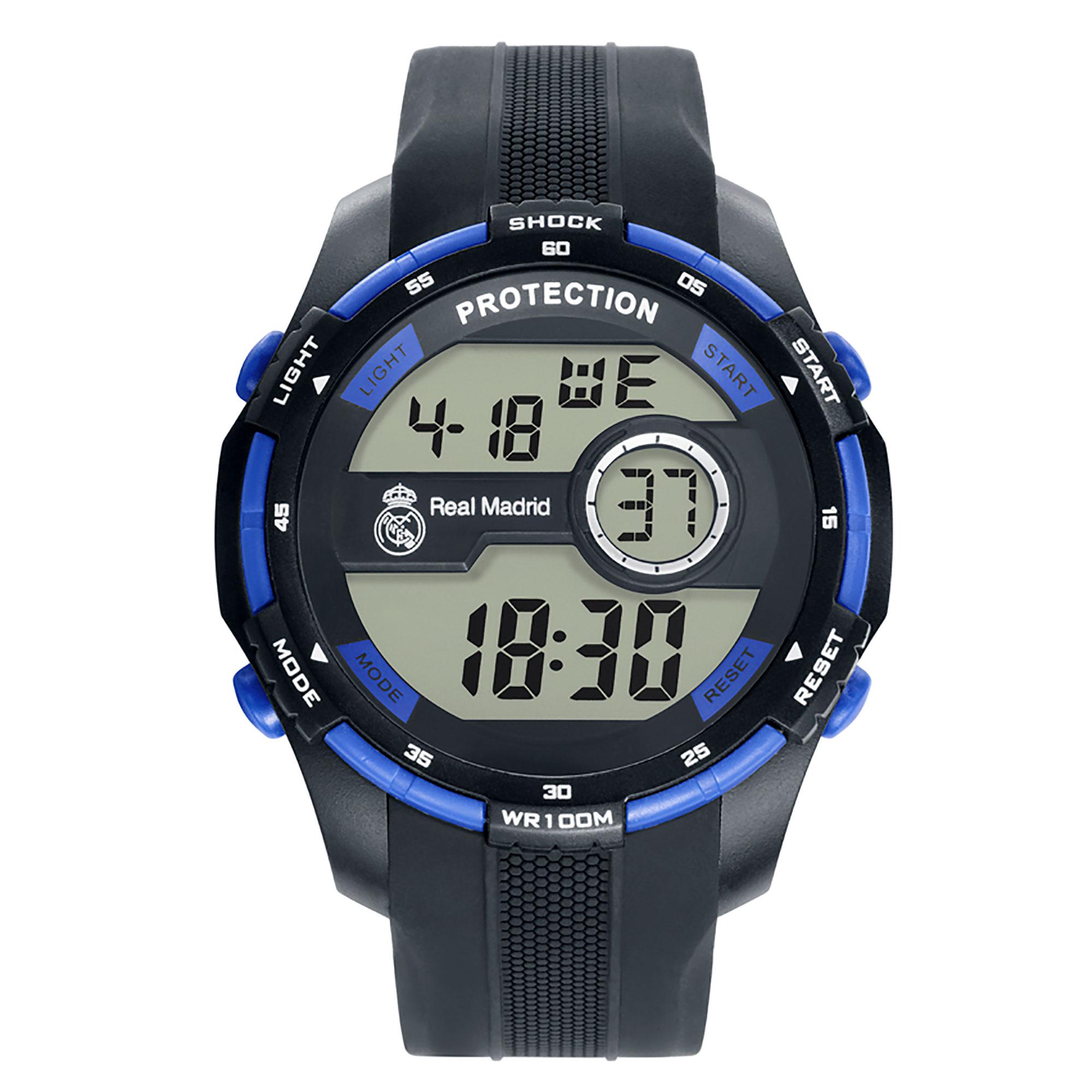 (Grupo Munreco) / Reloj digital del Real Madrid negro