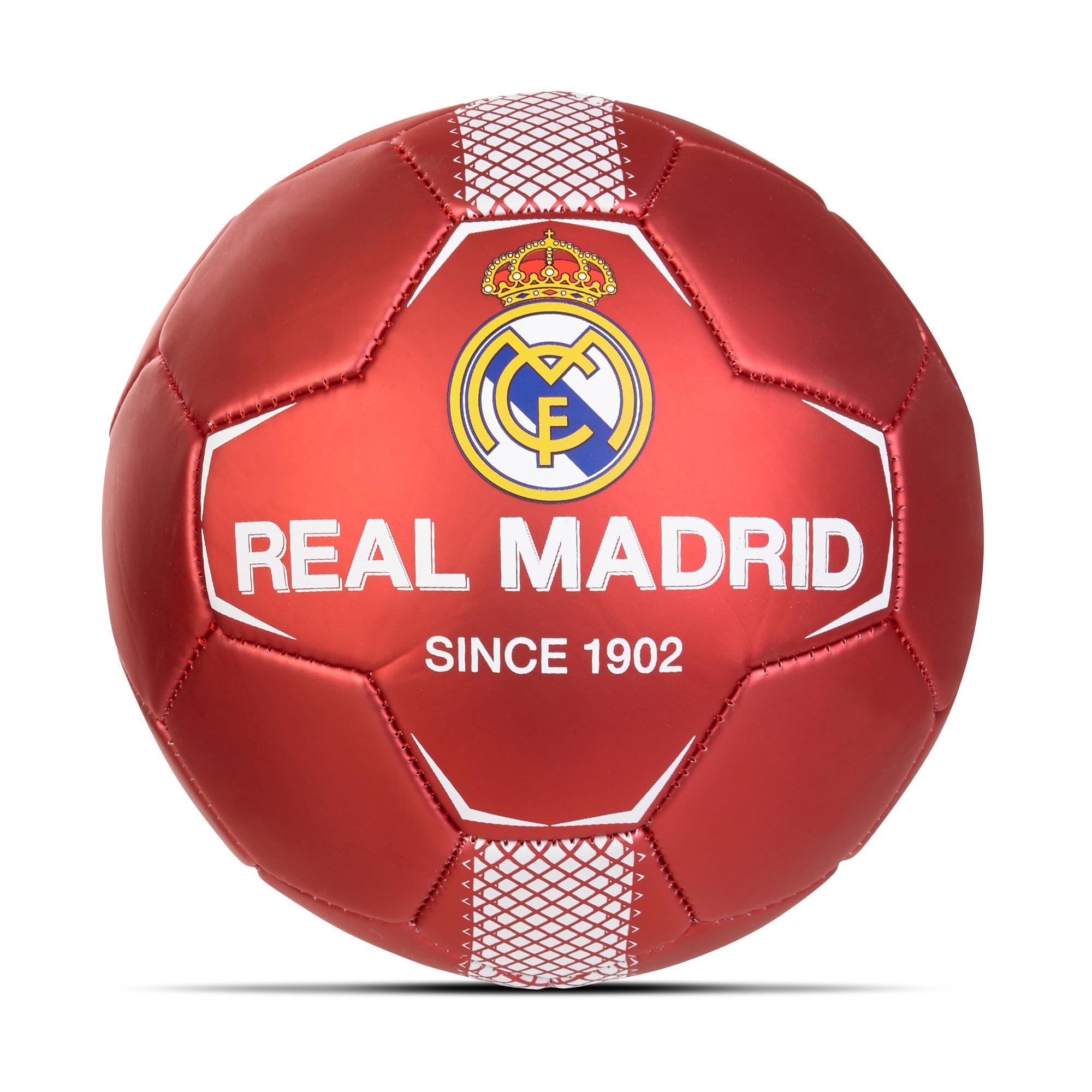 Ballon de football avec écusson du Real Madrid - Taille 2 - Rouge