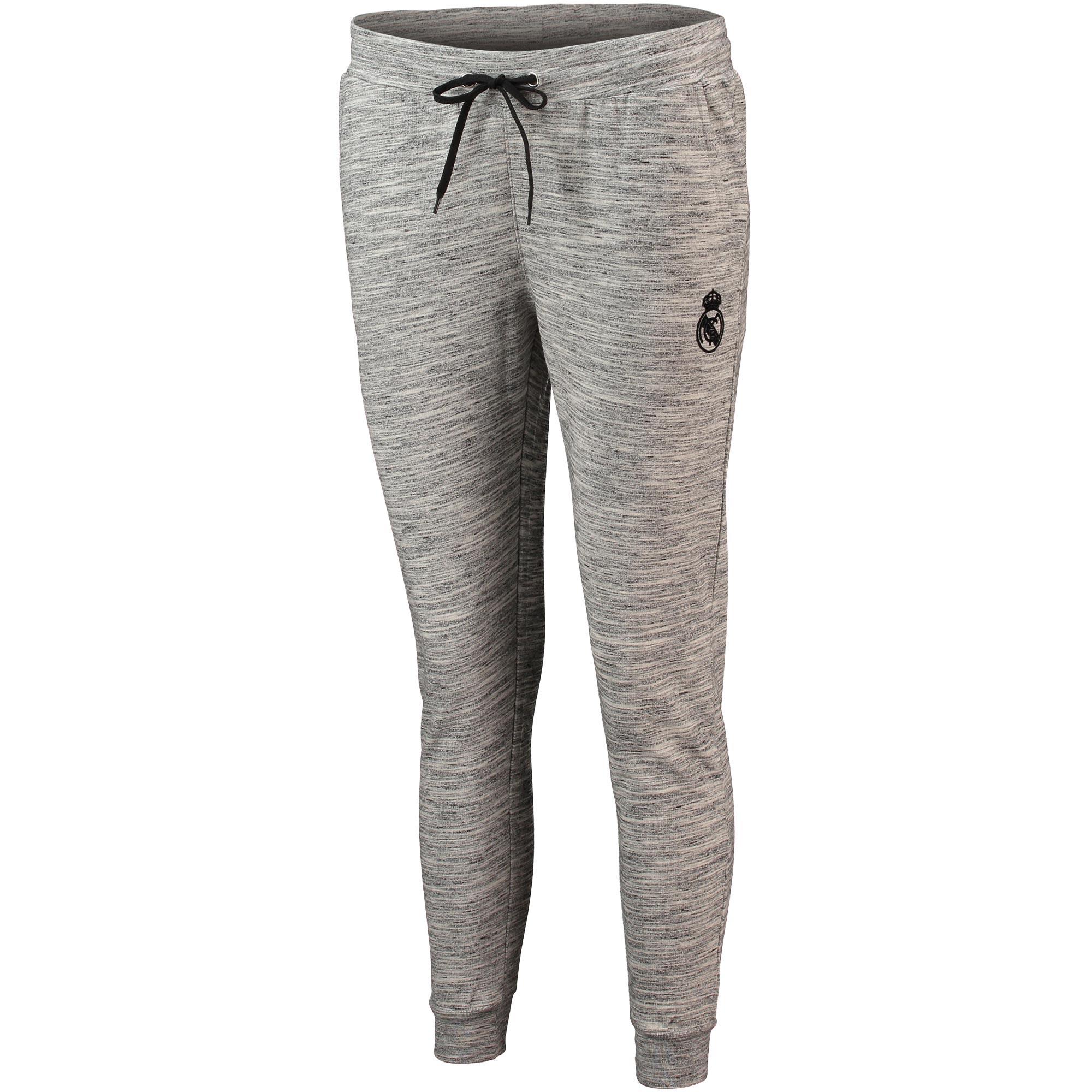 Pantalón de deporte ceñido del Real Madrid con escudo en gris para mujer