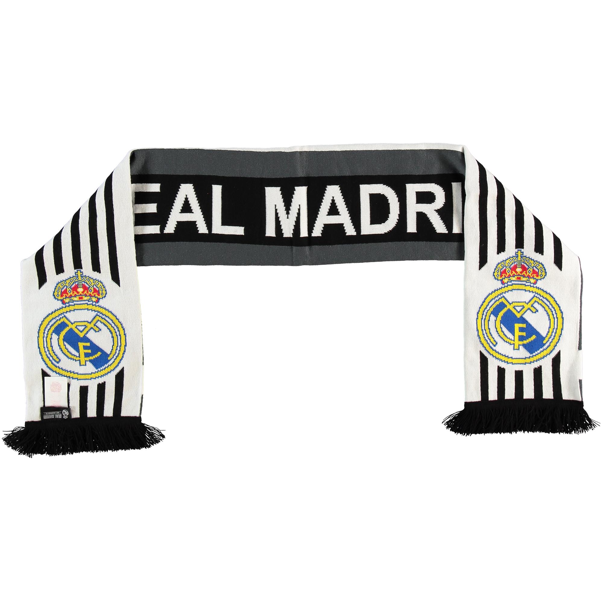 Écharpe réversible en tricot Real Madrid - Noir/Blanc - Adulte
